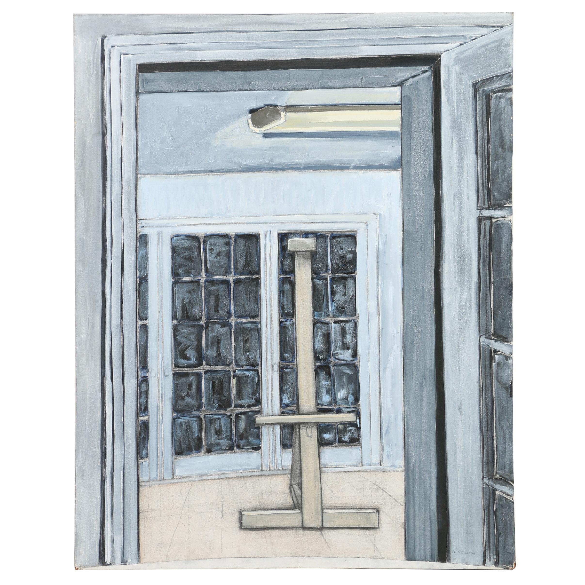"""Ann Sklarin Acrylic Painting """"Doors IV"""""""