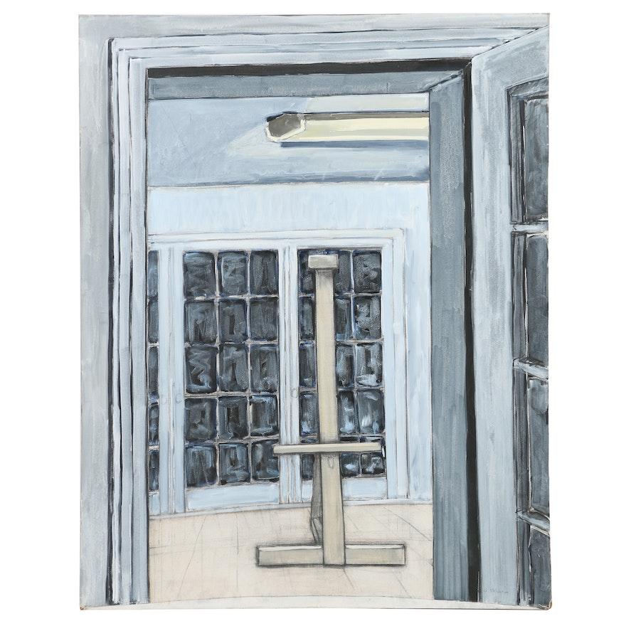 Ann Sklarin Acrylic Painting Doors Iv Ebth