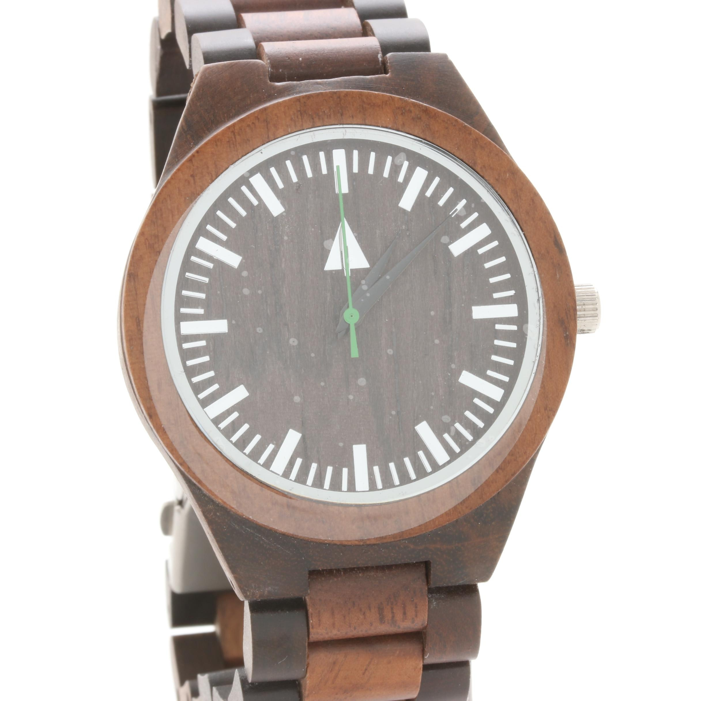 Tree Hut Wooden and Stainless Steel Wristwatch