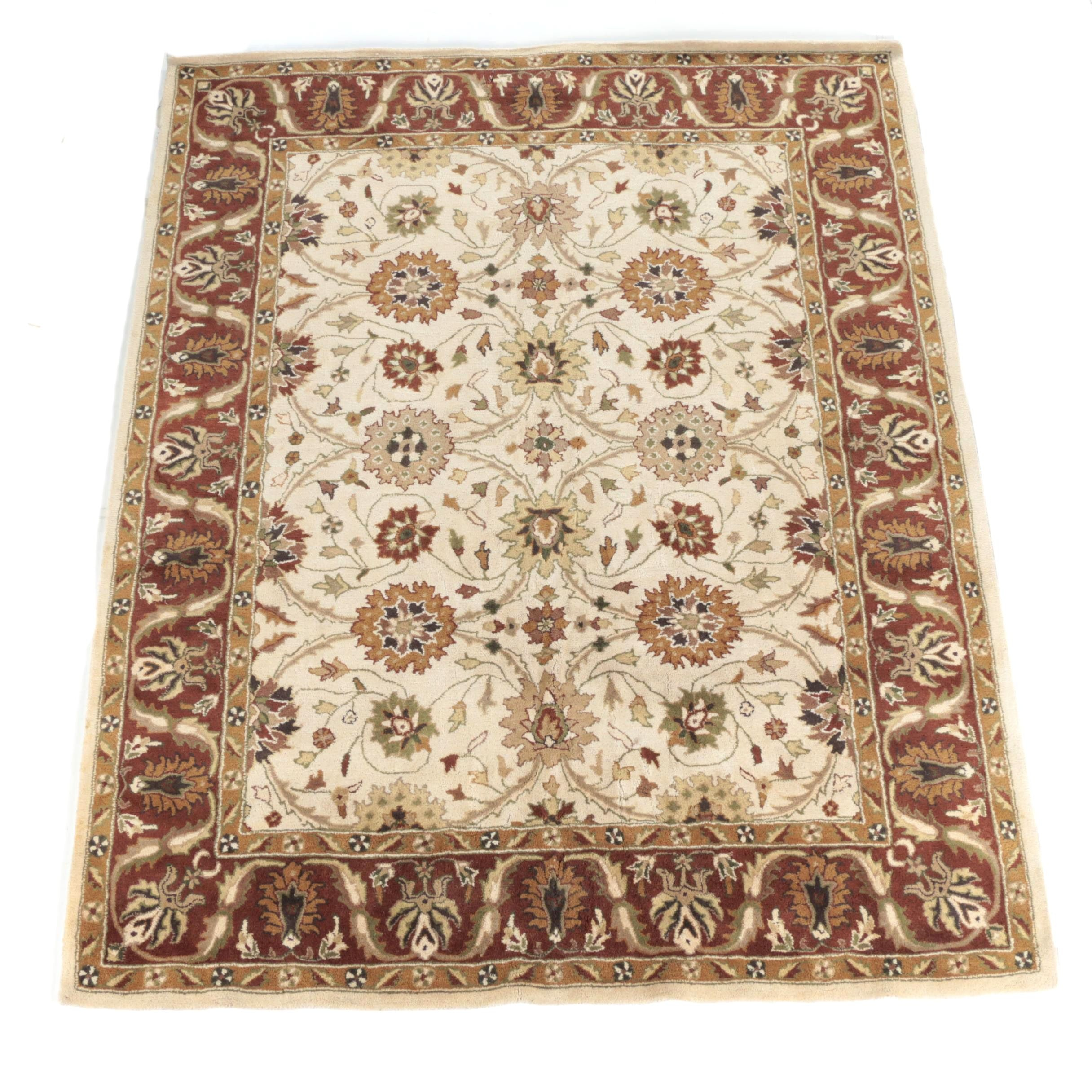 Hand-Tufted Indo-Persian Wool Area Rug