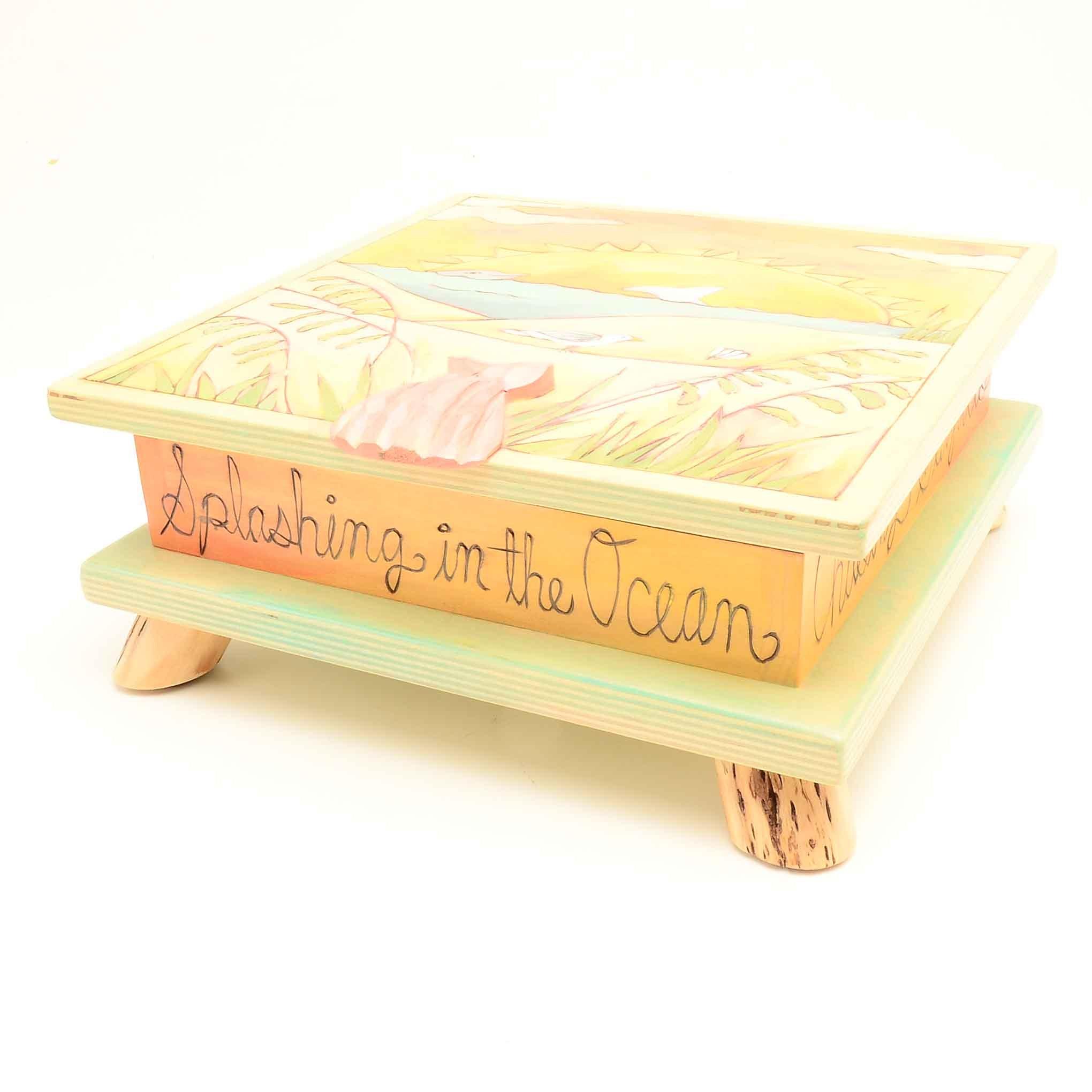 Handmade Wooden Beach Box by Sticks