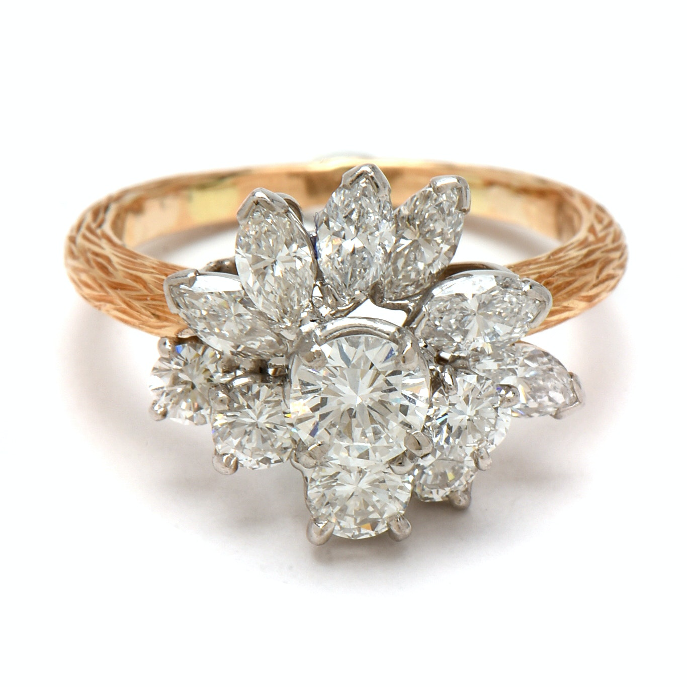Oscar Heyman & Bros 18K Yellow Gold with Platinum 2.26 CTW Diamond Ring