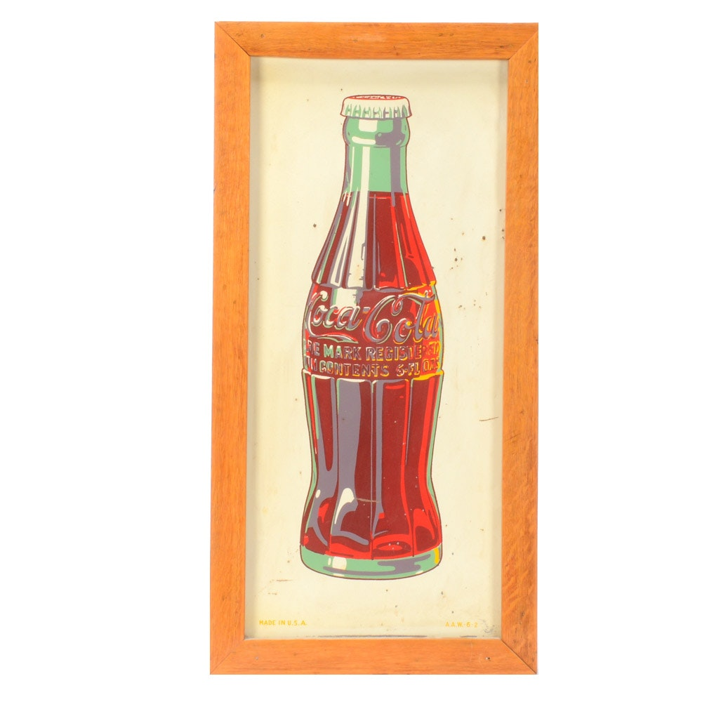 "1940s-1950s ""Coca-Cola"" Porcelain Advertising Sign"
