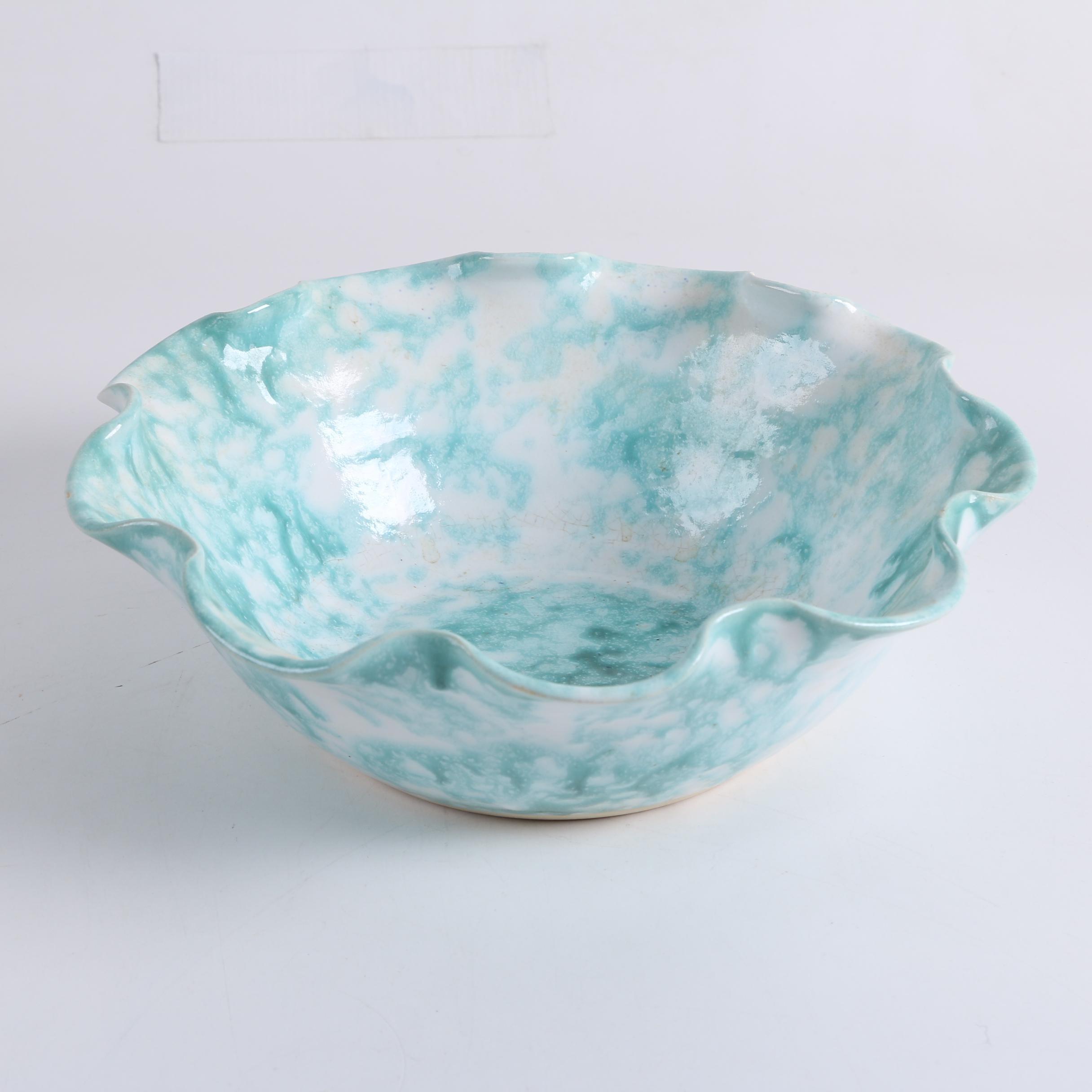 Signed Ceramic Centerpiece Bowl