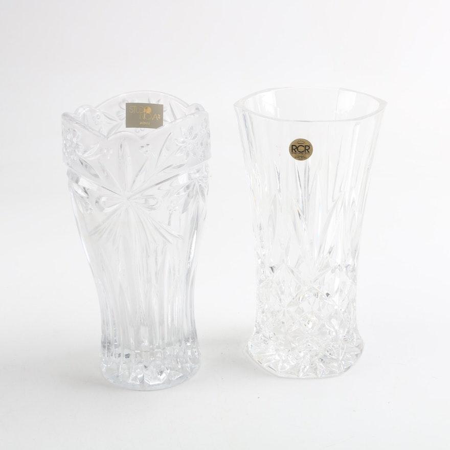 Crystal Vases Featuring Studio Nova And Rcr Ebth