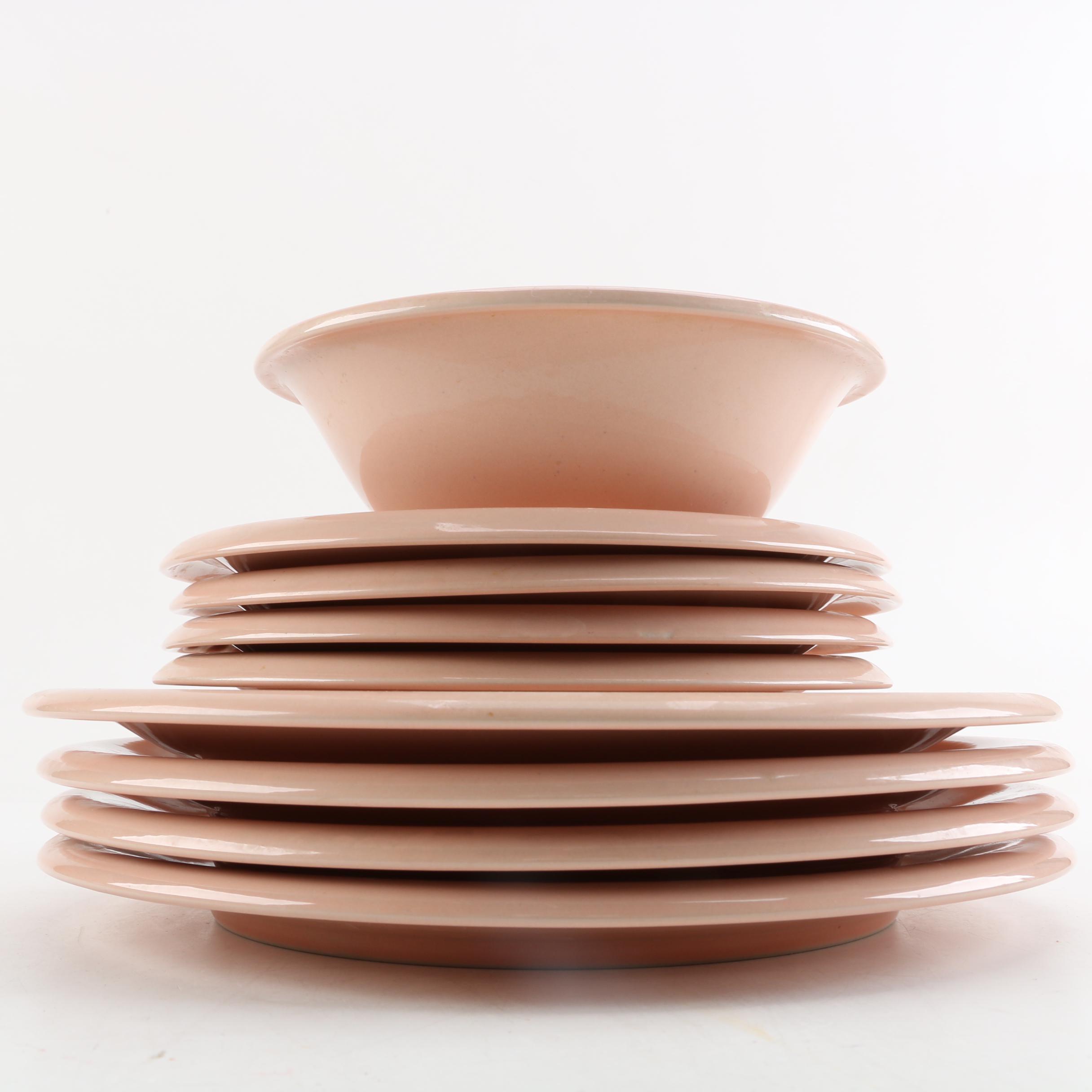Baker, Hart & Stuart Peach Tableware
