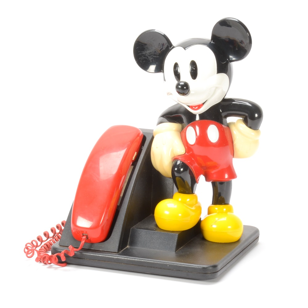 "Vintage Mickey Mouse ""Touch Dial"" AT&T Figural Telephone"