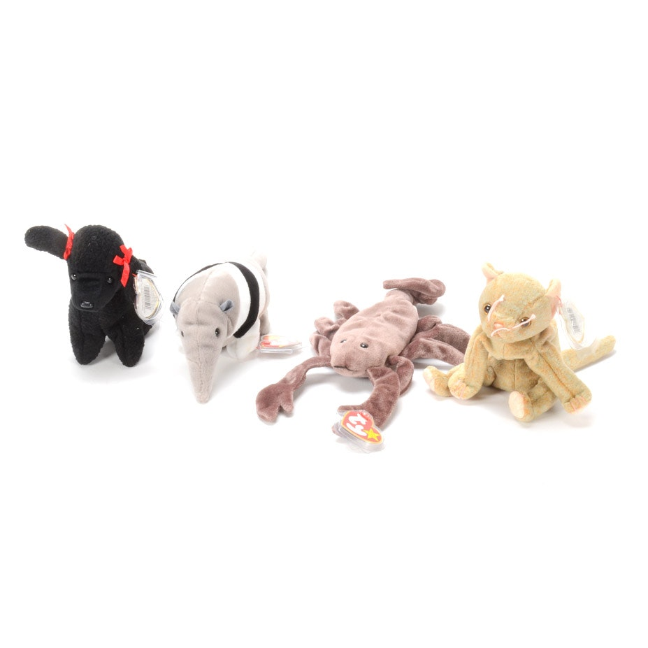 Ty Beanie Babies with Error Tush and Hang Tags
