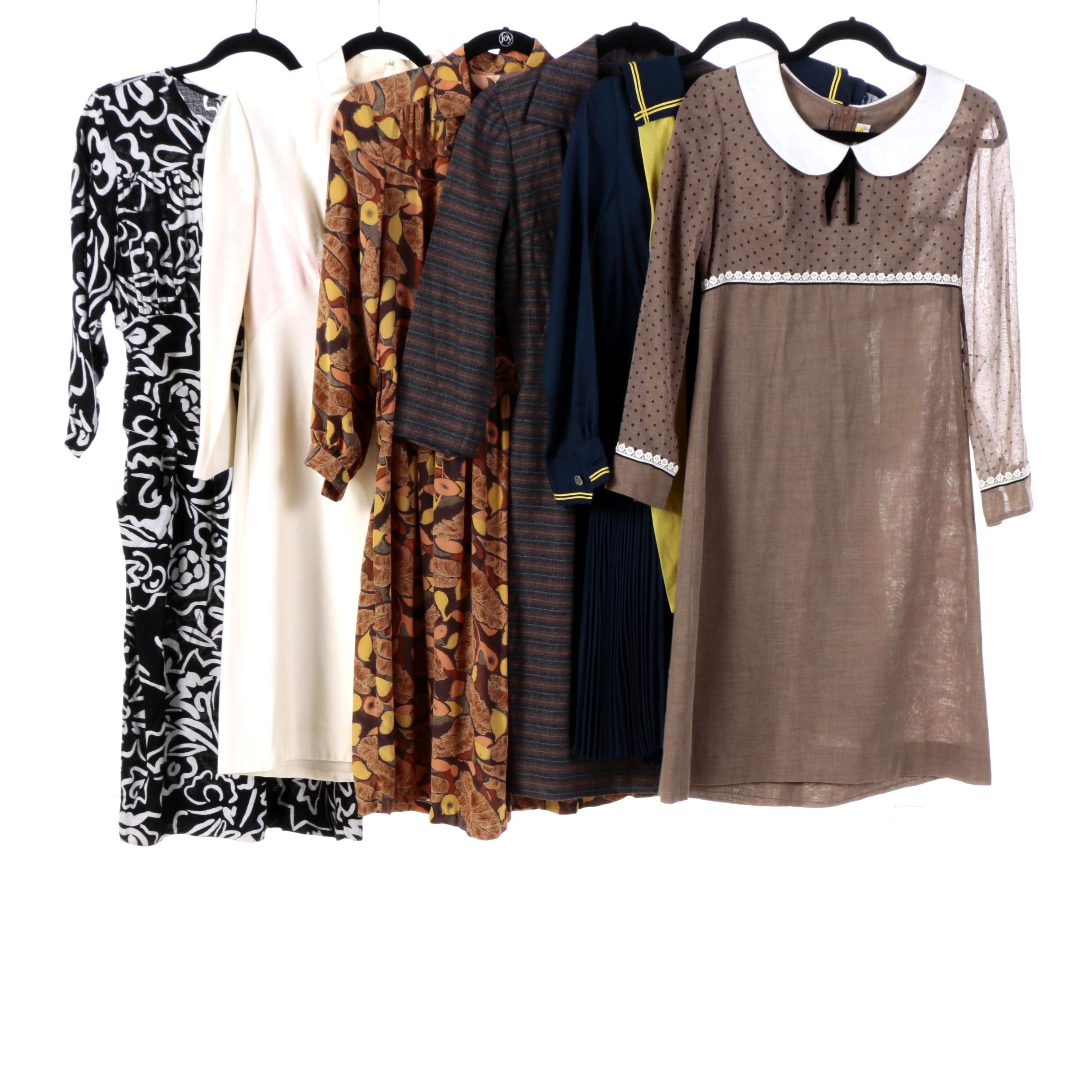 1970s Vintage Dresses Including Gay Gibson, Silk