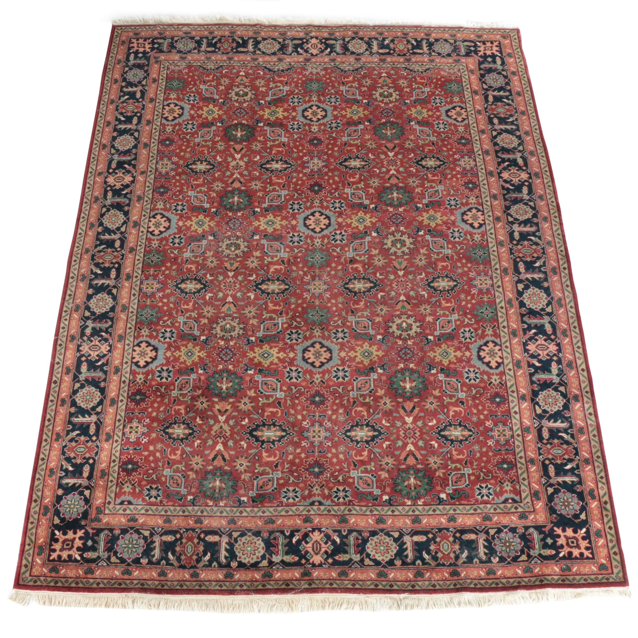 Hand-Knotted Pakistani Caucasian Wool Area Rug