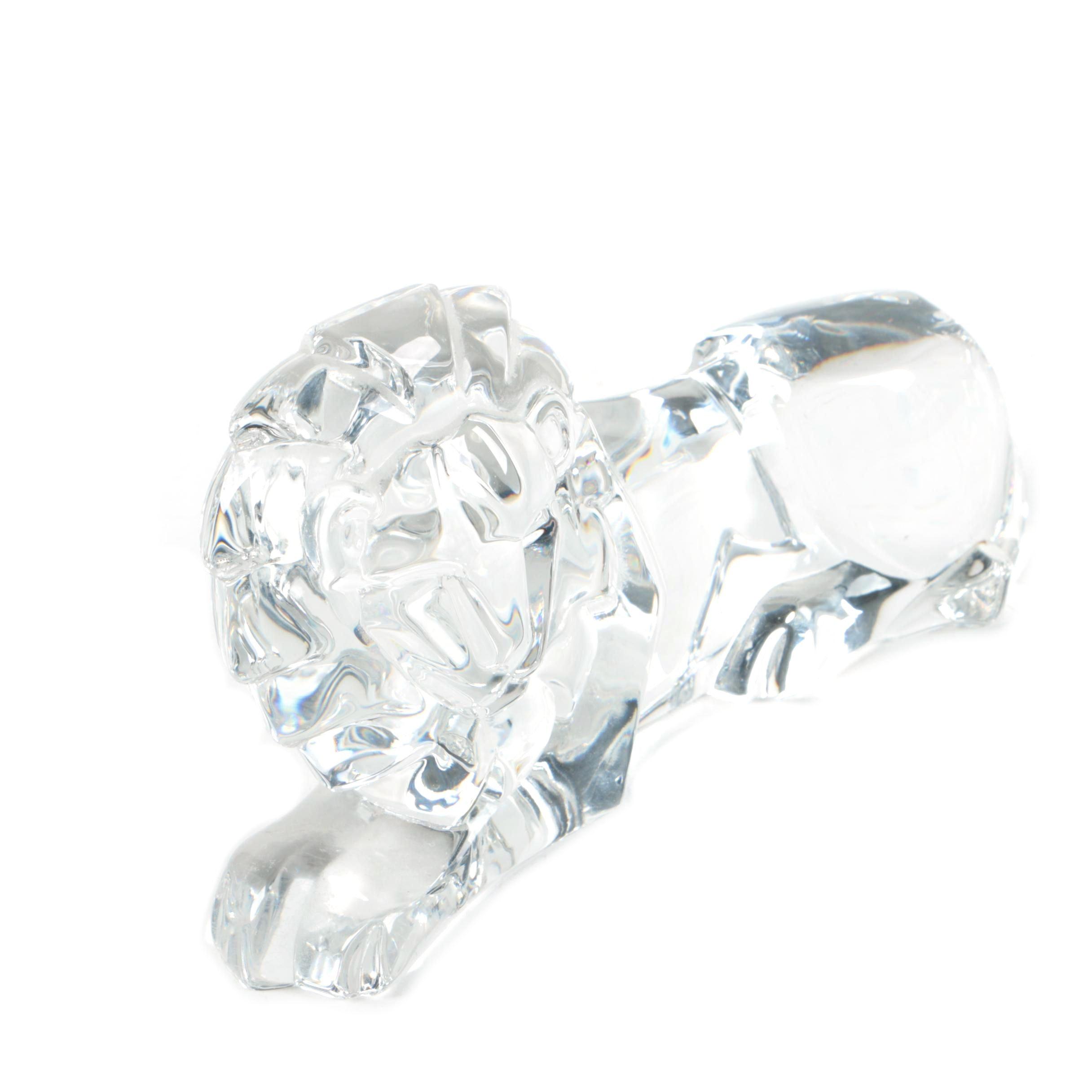 Crystal Lion Figurine