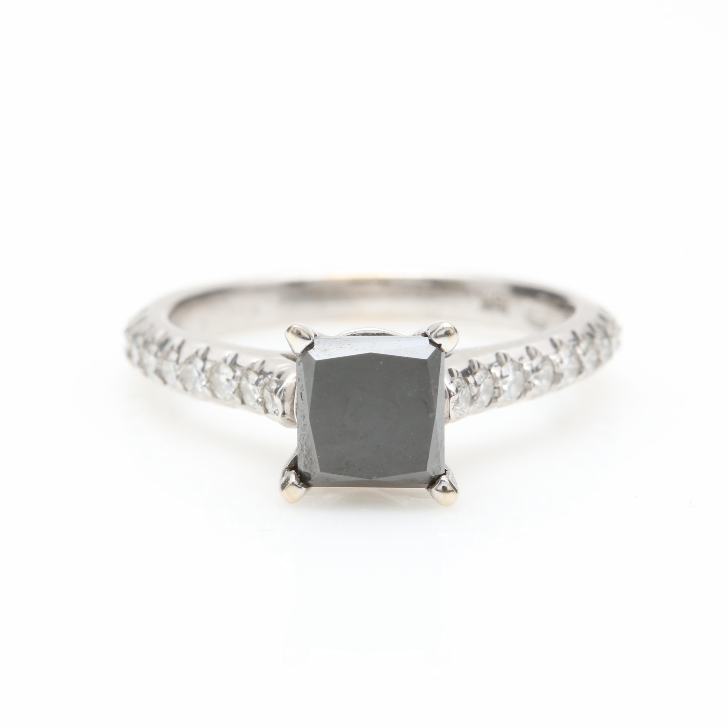 18K White Gold 1.63 CTW Diamond Ring