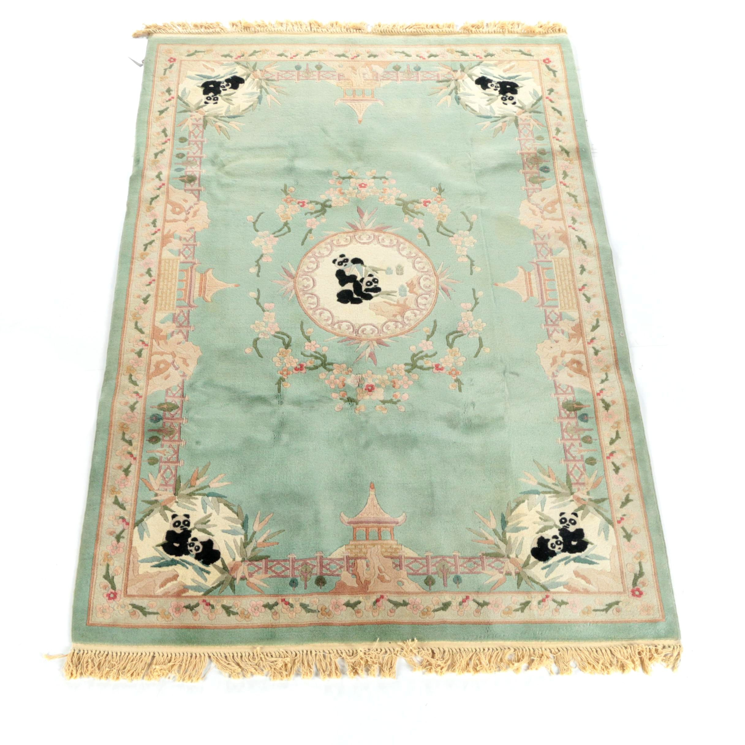 Hand-Knotted Chinese Sculpted Area Rug