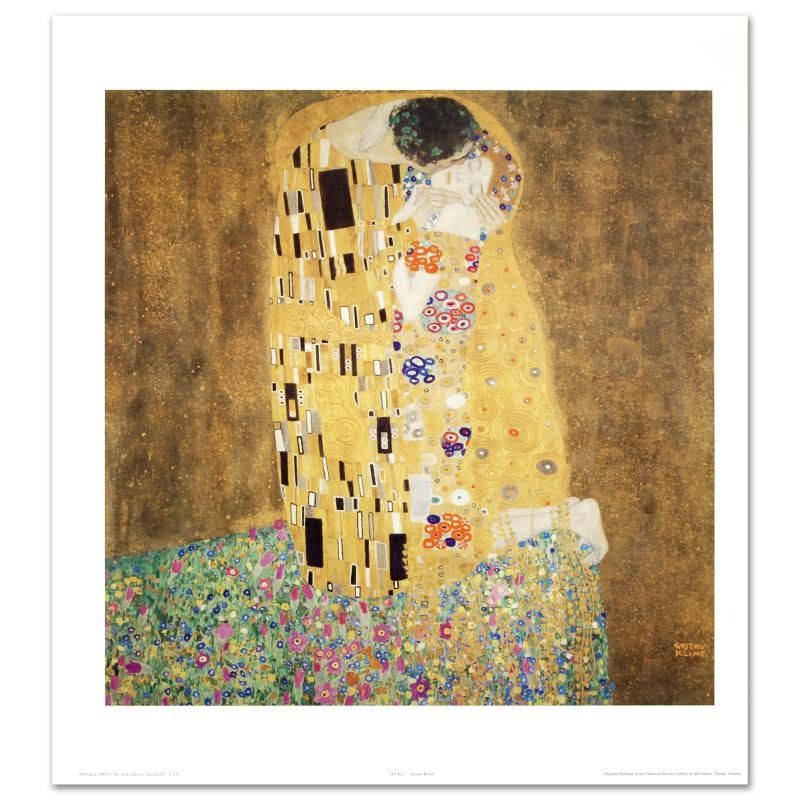 "Fine Art Print After Gustav Klimt ""The Kiss"""
