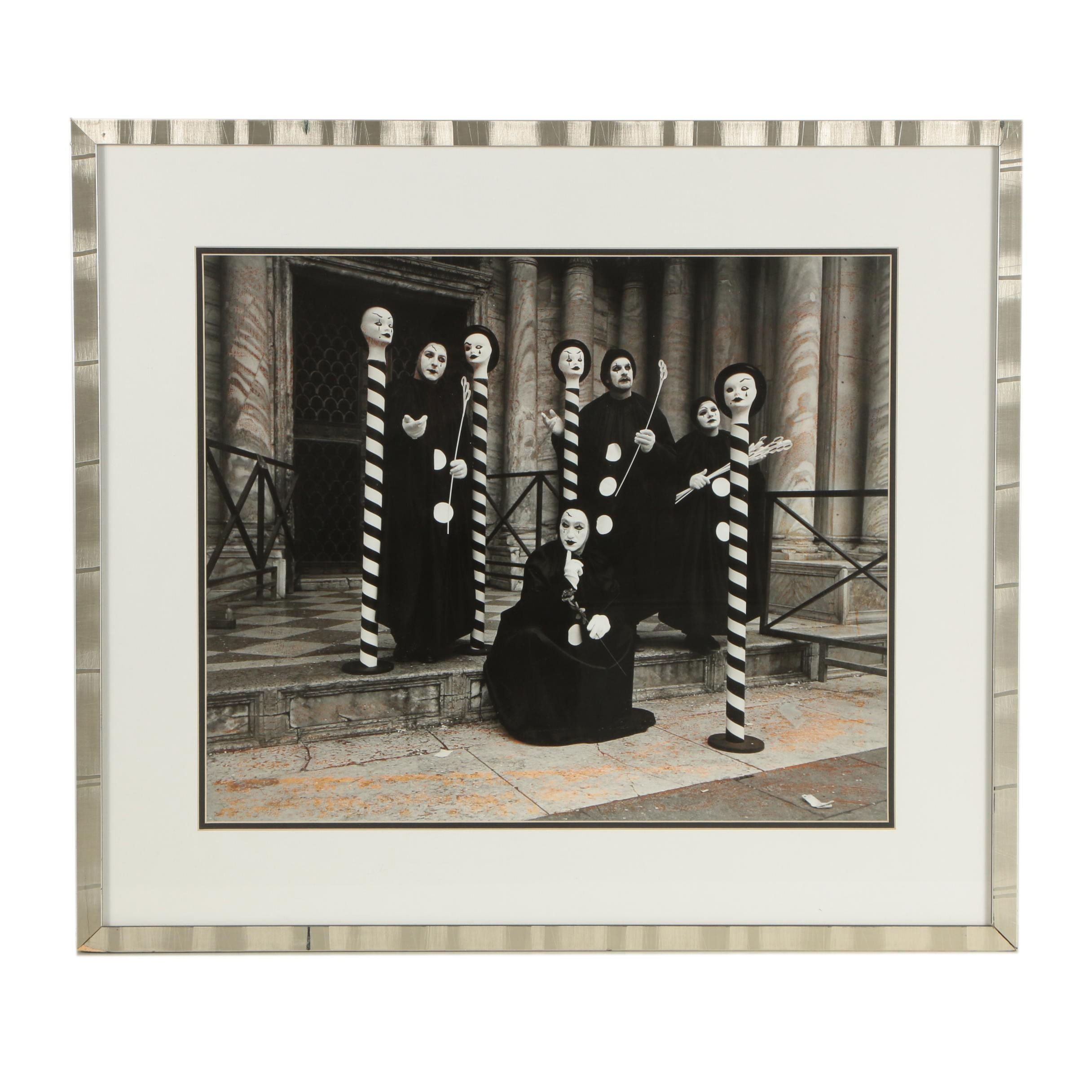 Silver Gelatin Photograph of Mimes