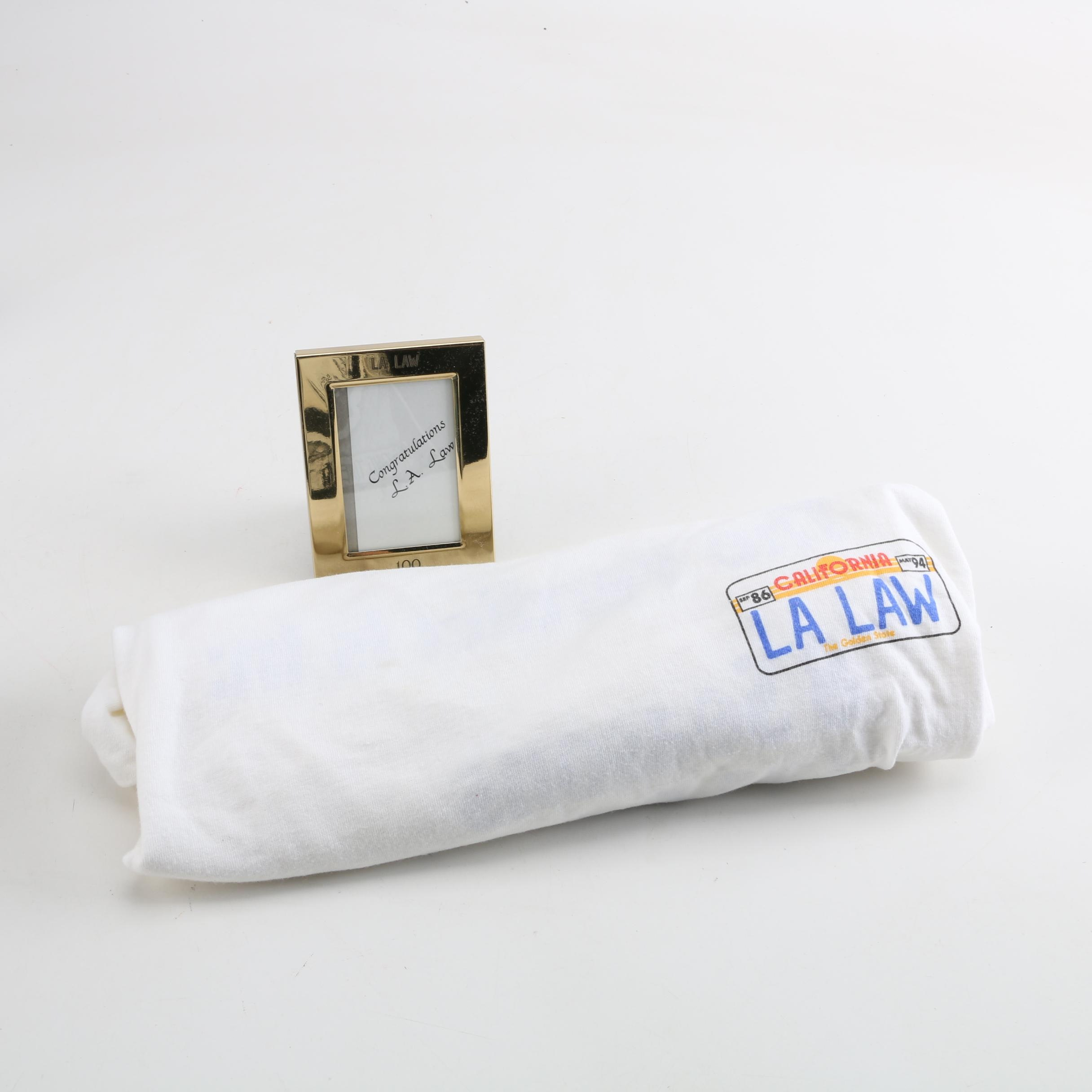 """Television Show """"LA Law"""" T-Shirt and Commemorative Picture Frame"""