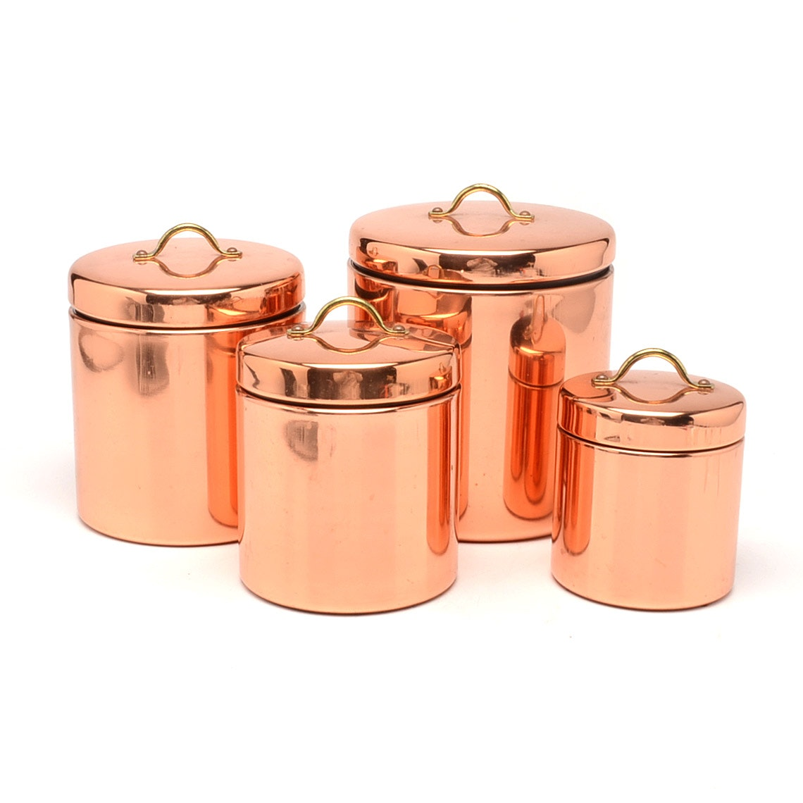 Group of Copper Containers