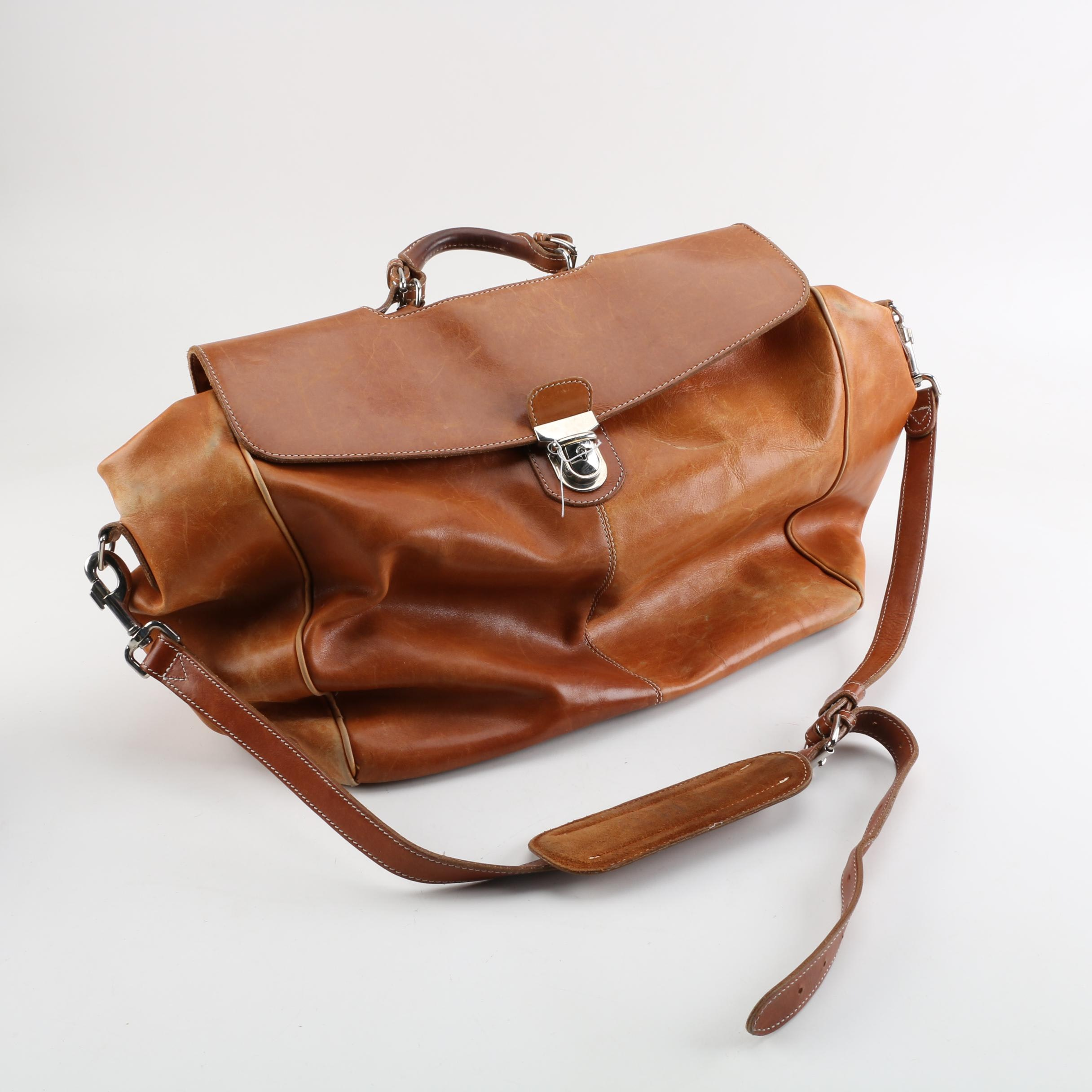 Mulholland Brothers Leather Duffel Bag