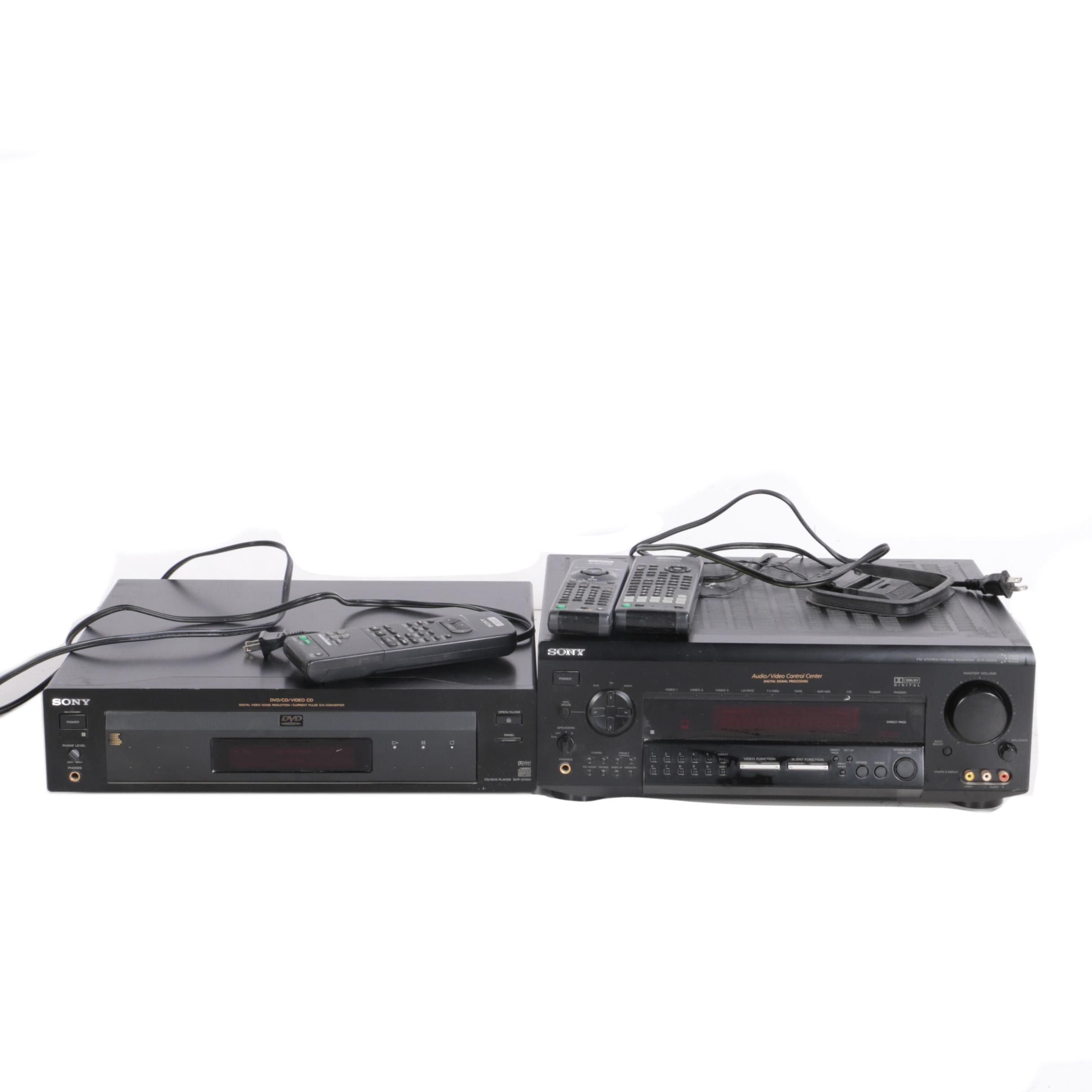 Sony DVP-S7000 DVD/CD Player and STR-DE915 FM-AM Reveiver