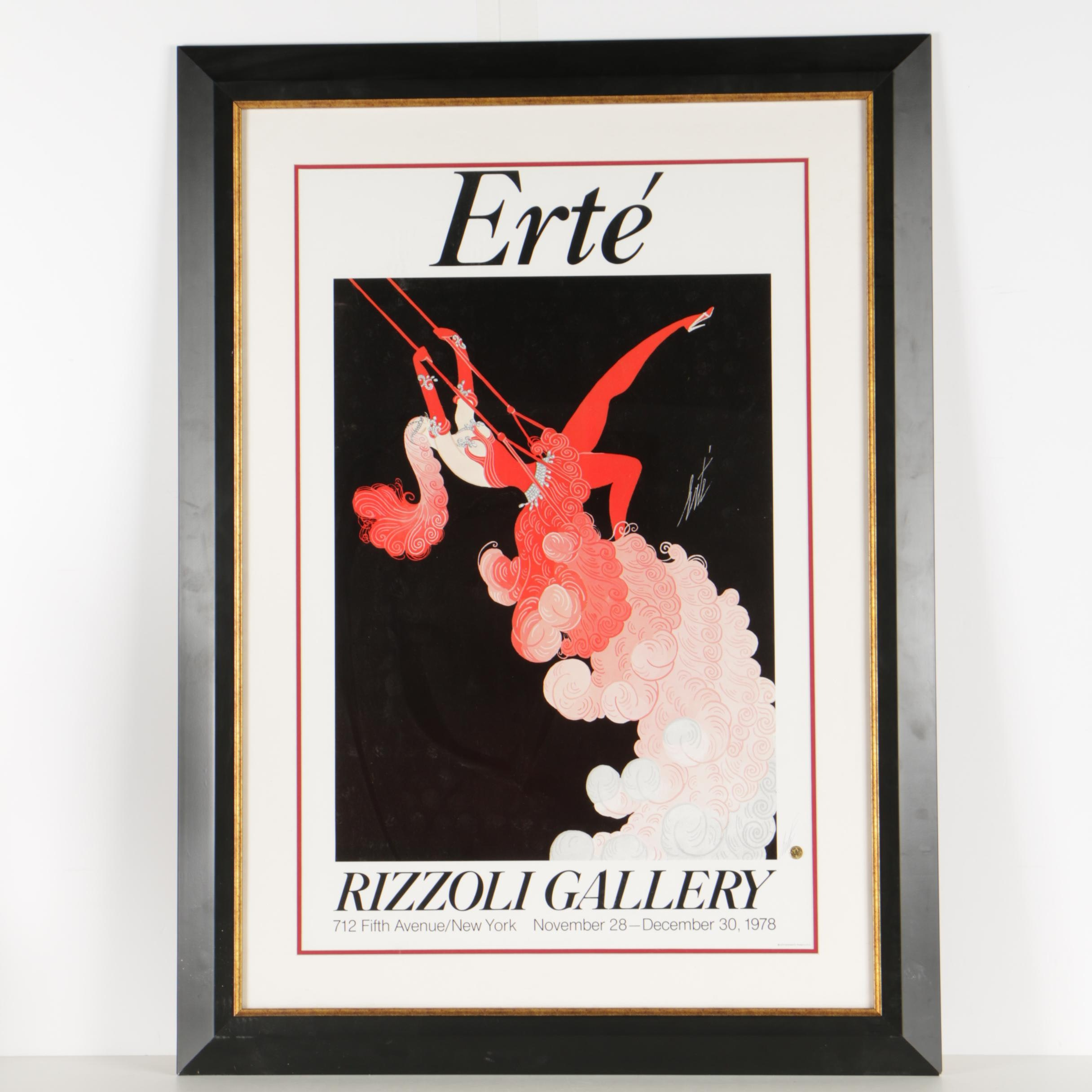 Érte Offset Lithograph Exhibition Poster for Rizzoli Gallery