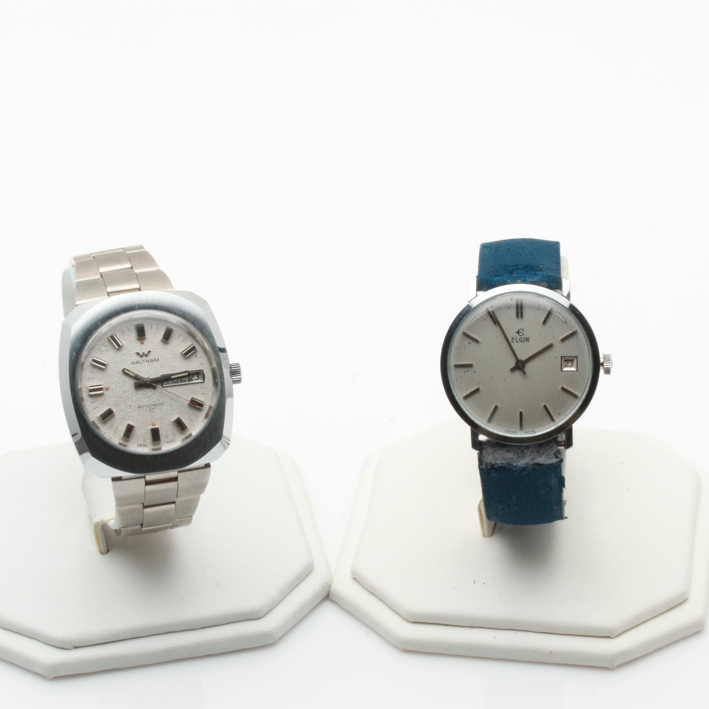 Elgin and Waltham Swiss Made Wristwatches
