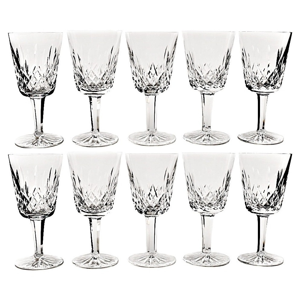 """Set of Waterford Crystal """"Lismore"""" Water Goblets"""