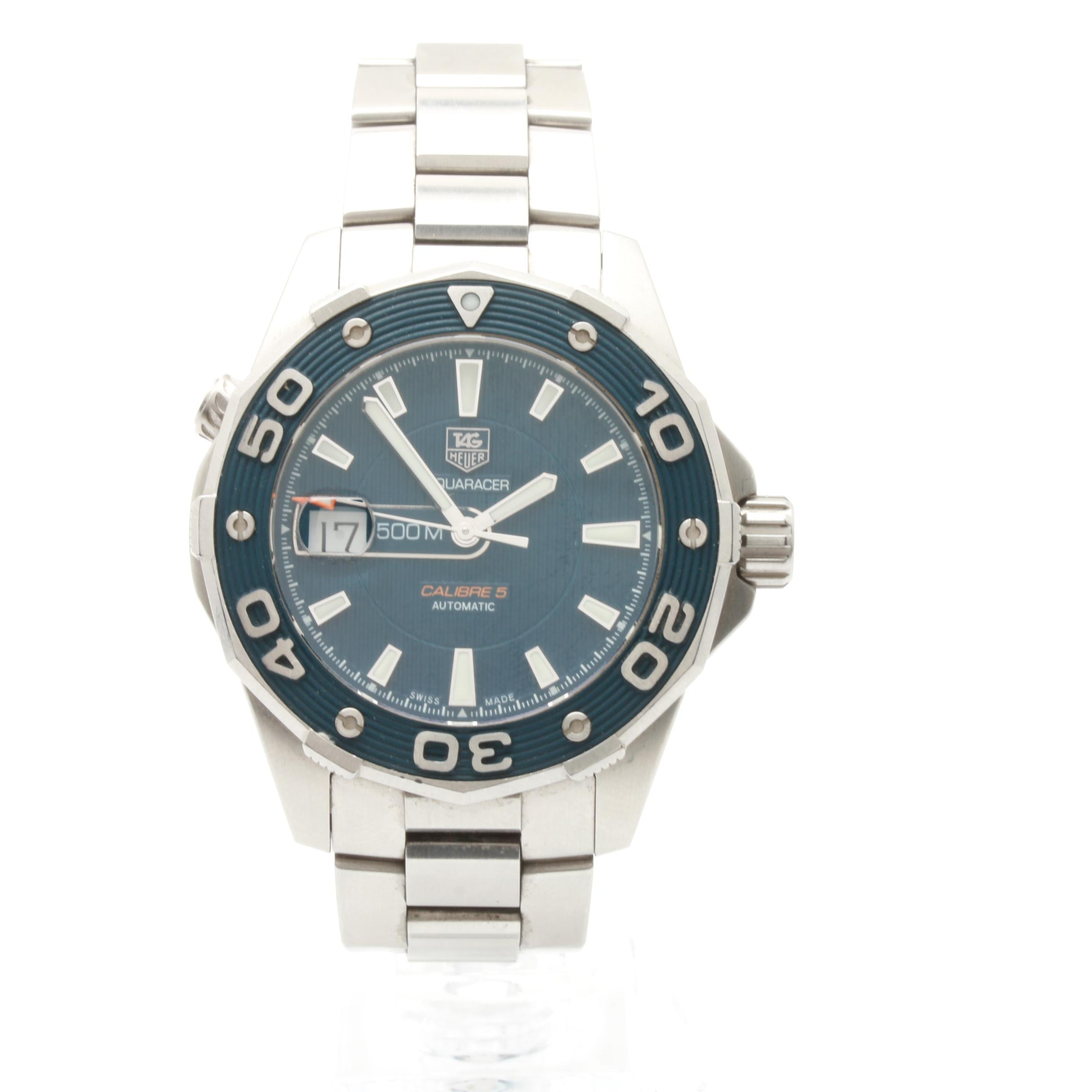 TAG Heuer Aquaracer Calibre 5 Stainless Steel Wristwatch