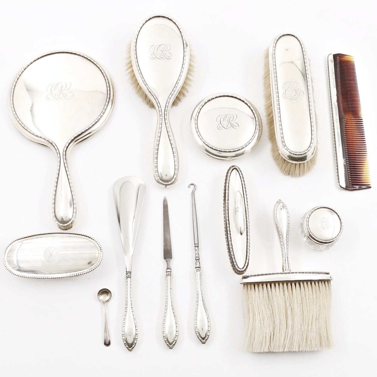 Early 20th Century Sterling Silver Vanity Set