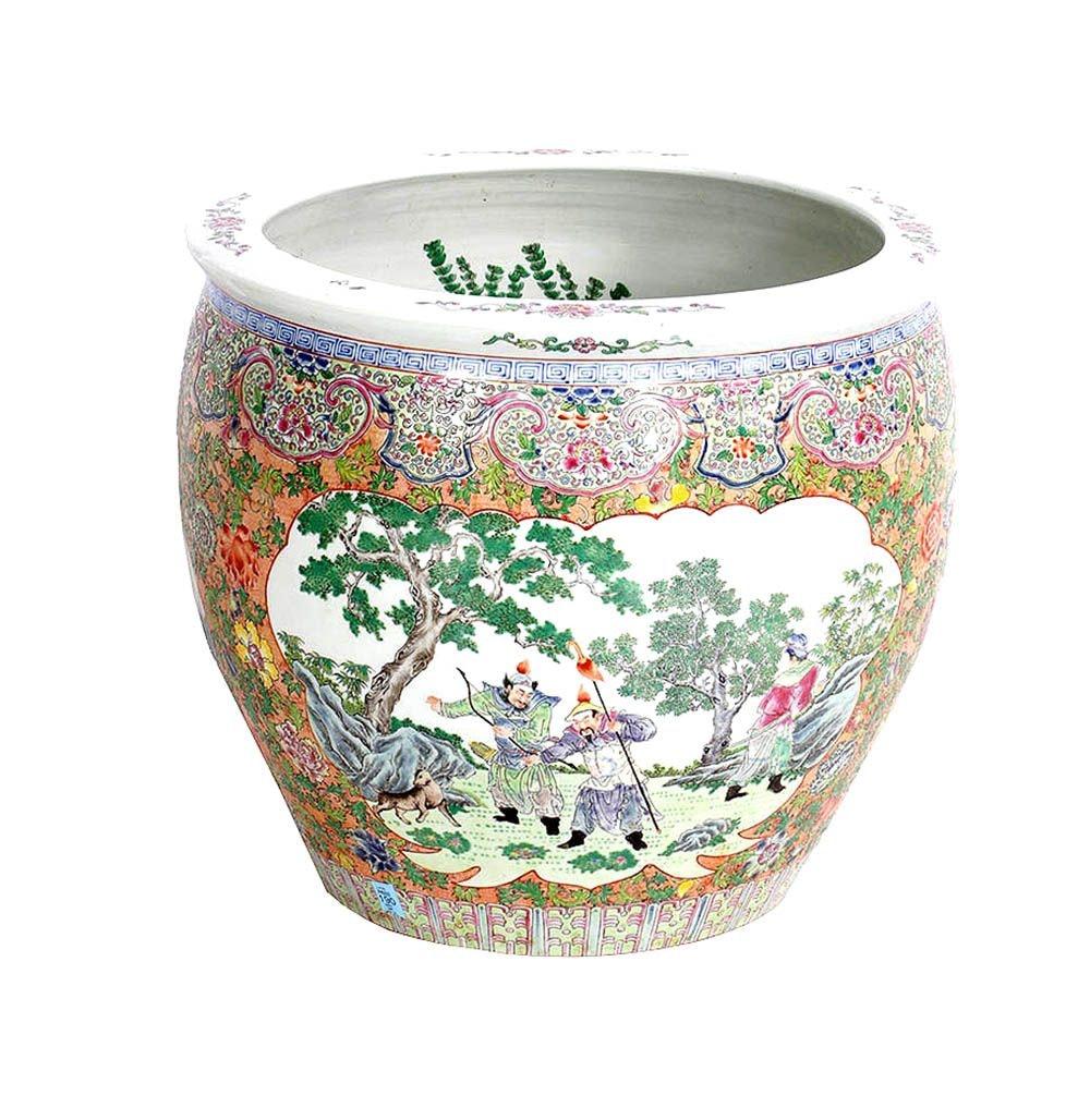 Chinese Porcelain Fish Bowl Planters