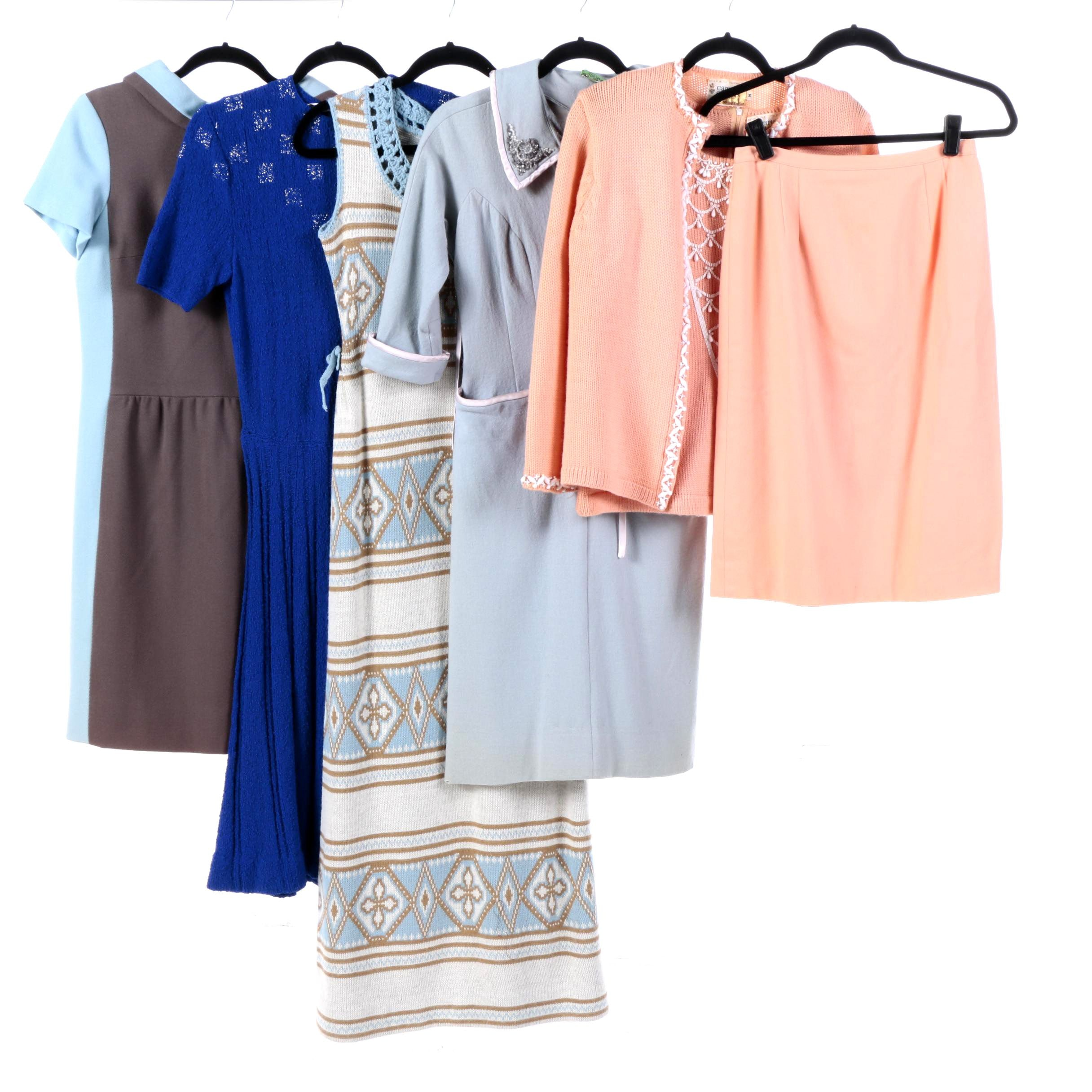 Women's Vintage Dresses Including Campus Casuals of California Coordinated Set