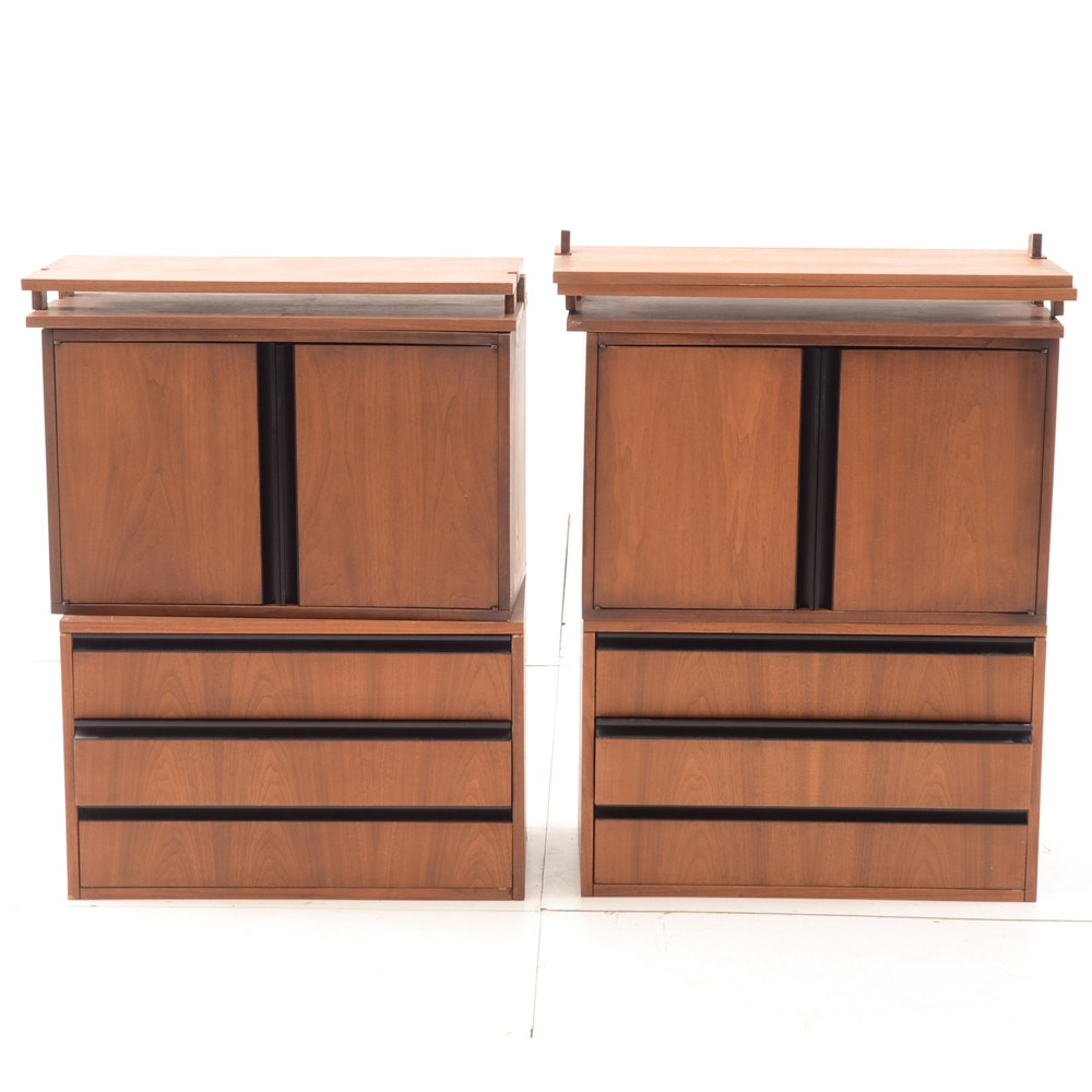 Mid Century Modern Wall-Mounted Cabinet Unit