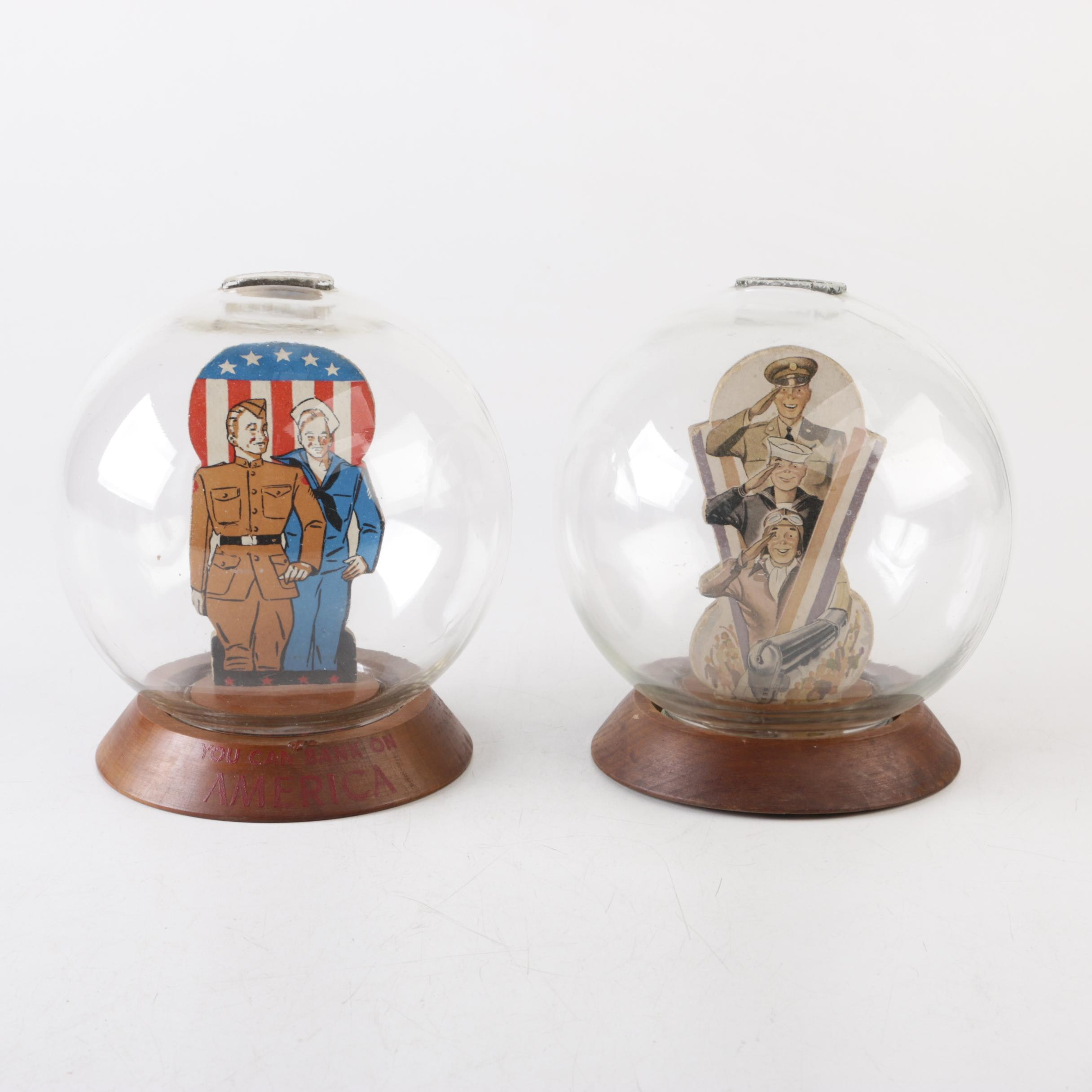 WWII Era Vic Moran Military-Themed Bubble Banks