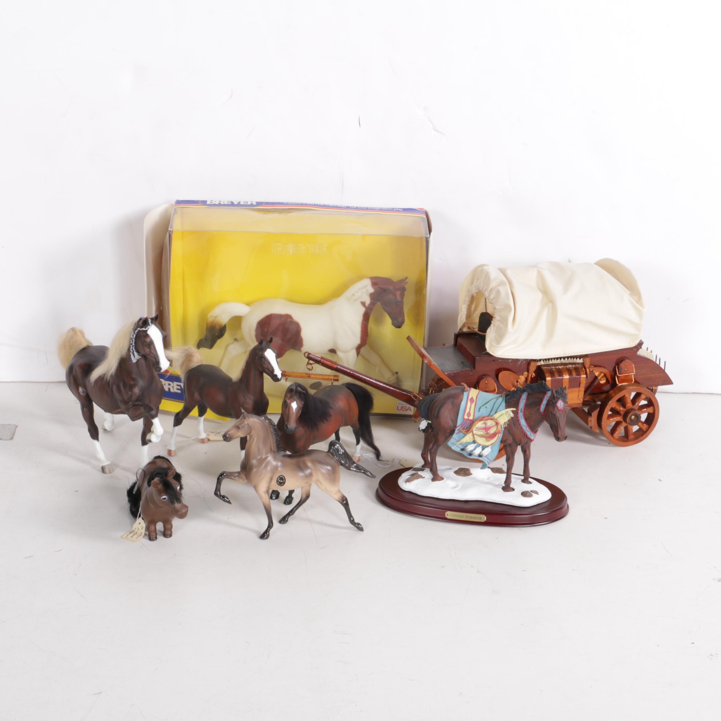 """Assorted Breyer Horse Figures Including """"Gentle Warrior"""""""