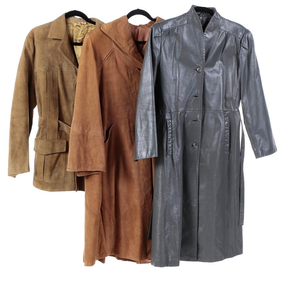 Women's Leather and Suede Coats and Men's Suede Jacket