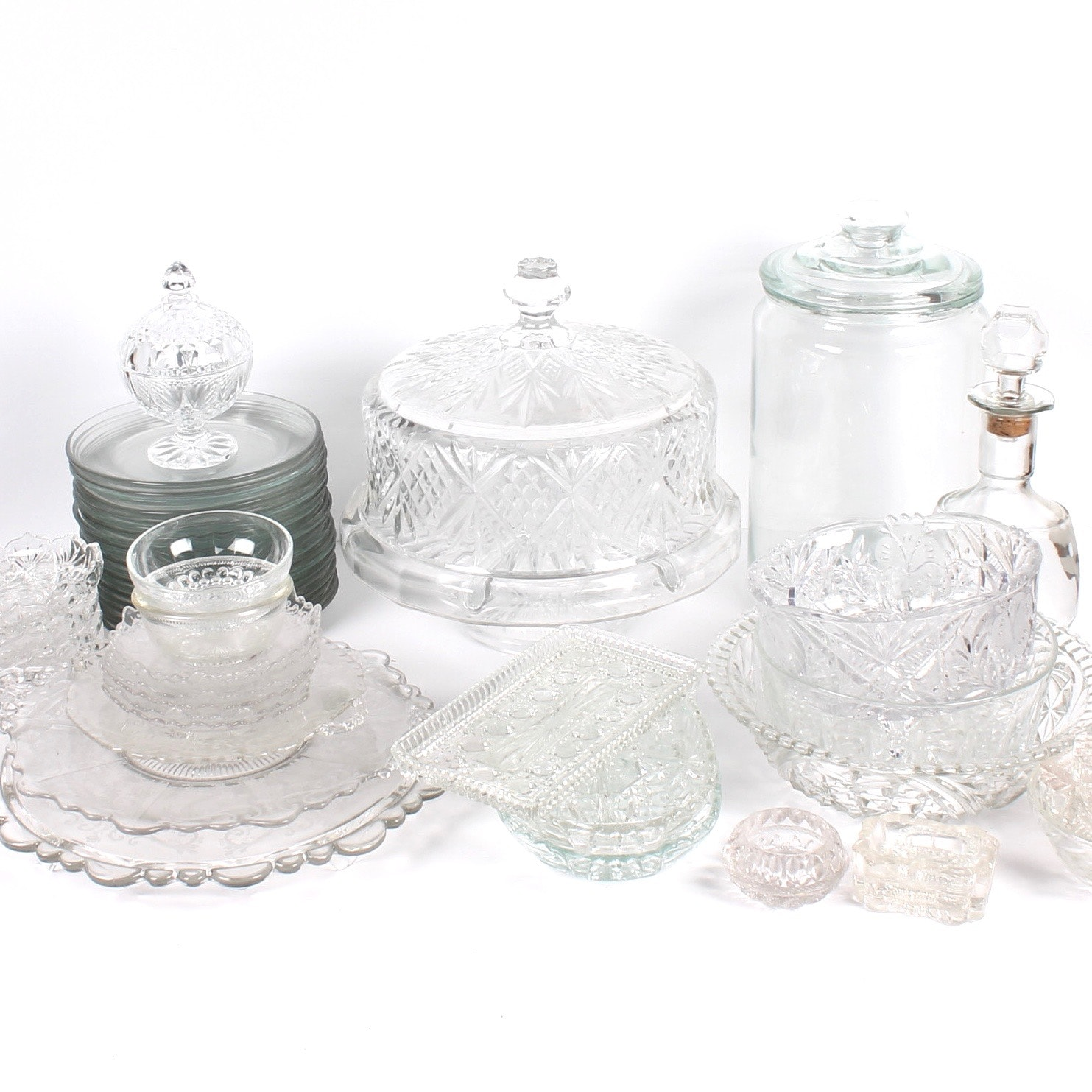 Pressed Glass Tableware Collection
