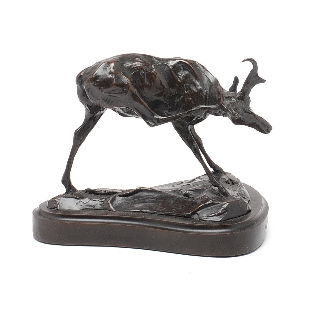 "Tim Shinabarger Bronze Sculpture ""Tripod"""