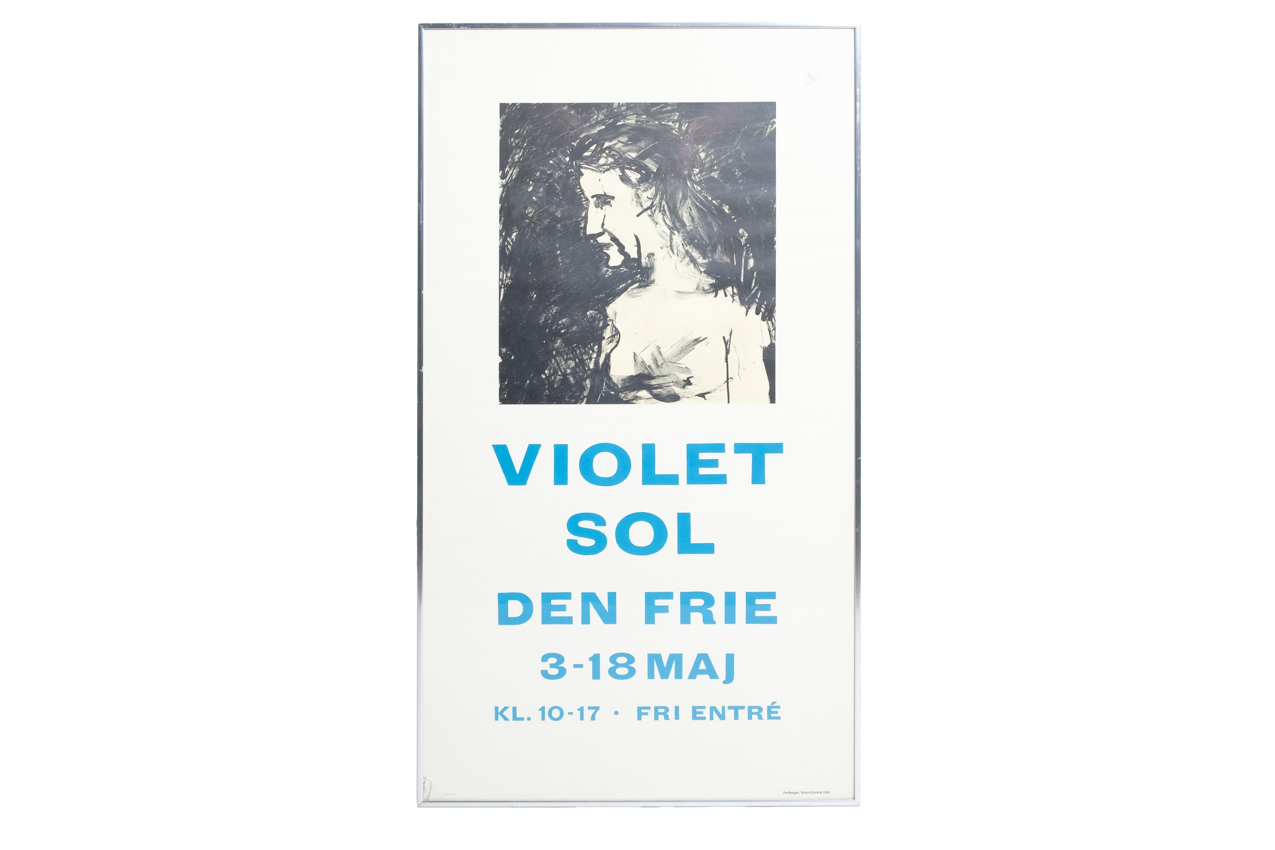 "1980 Danish ""Violet Sol"" Exhibition Poster After Per Baagøe and Steen Ejlers"