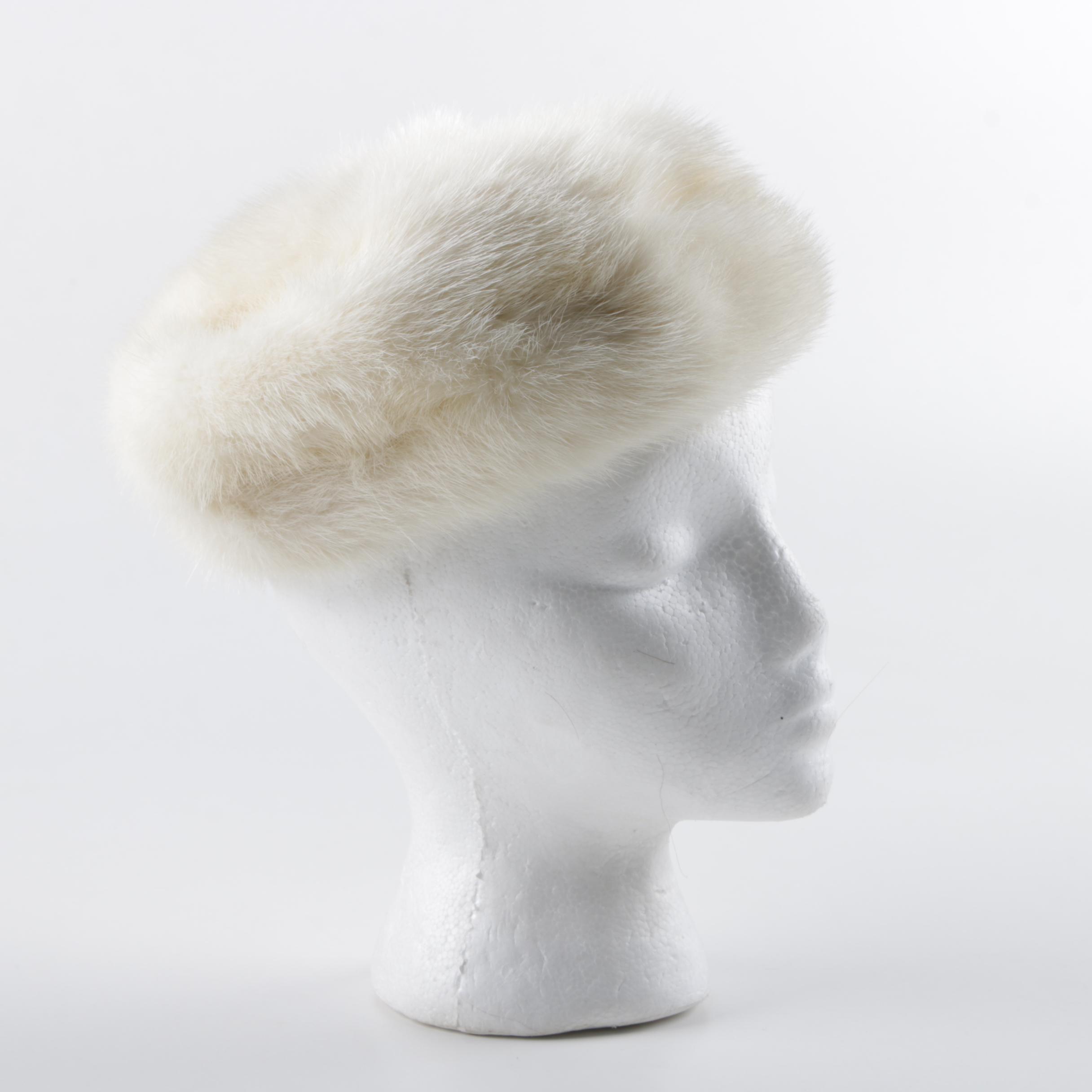 Vintage Blonde Mink Fur Hat