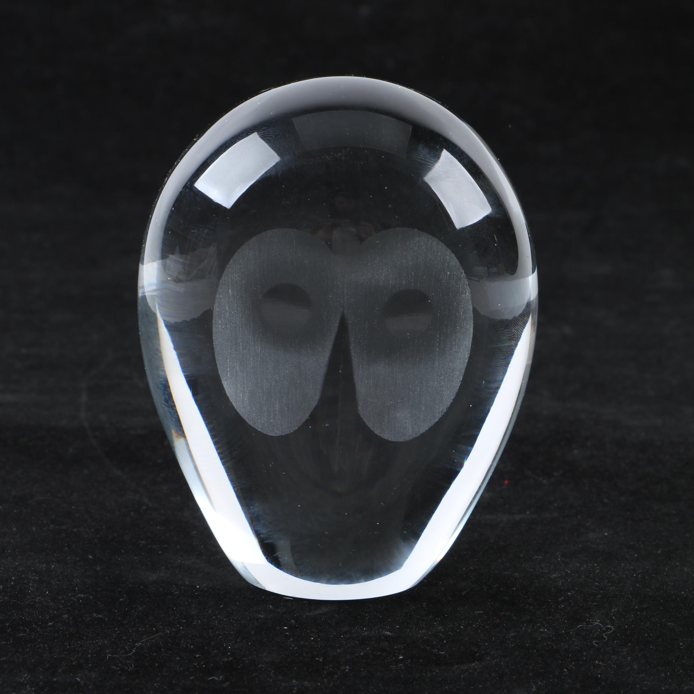 Crystal Owl Figurine and Paperweight