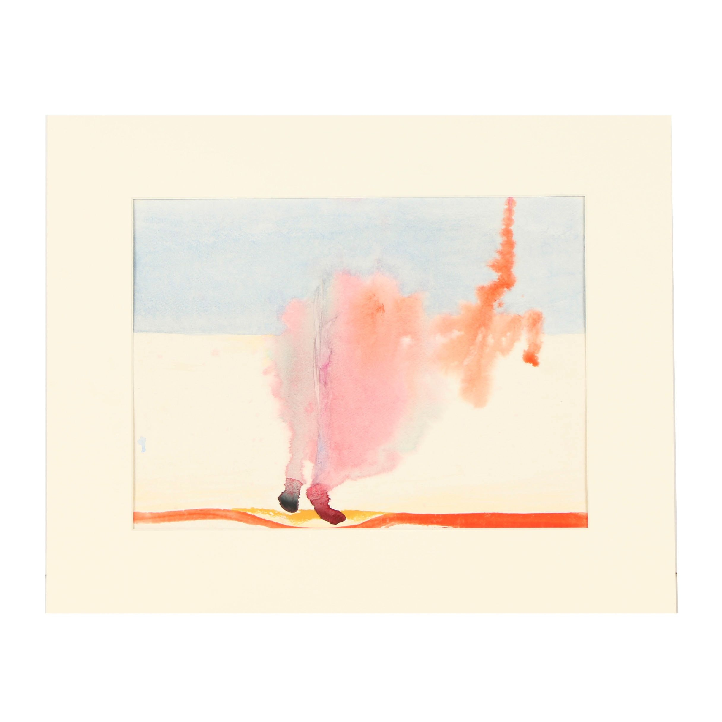 "Beth Hertz Watercolor Painting ""Feet of Clay"""