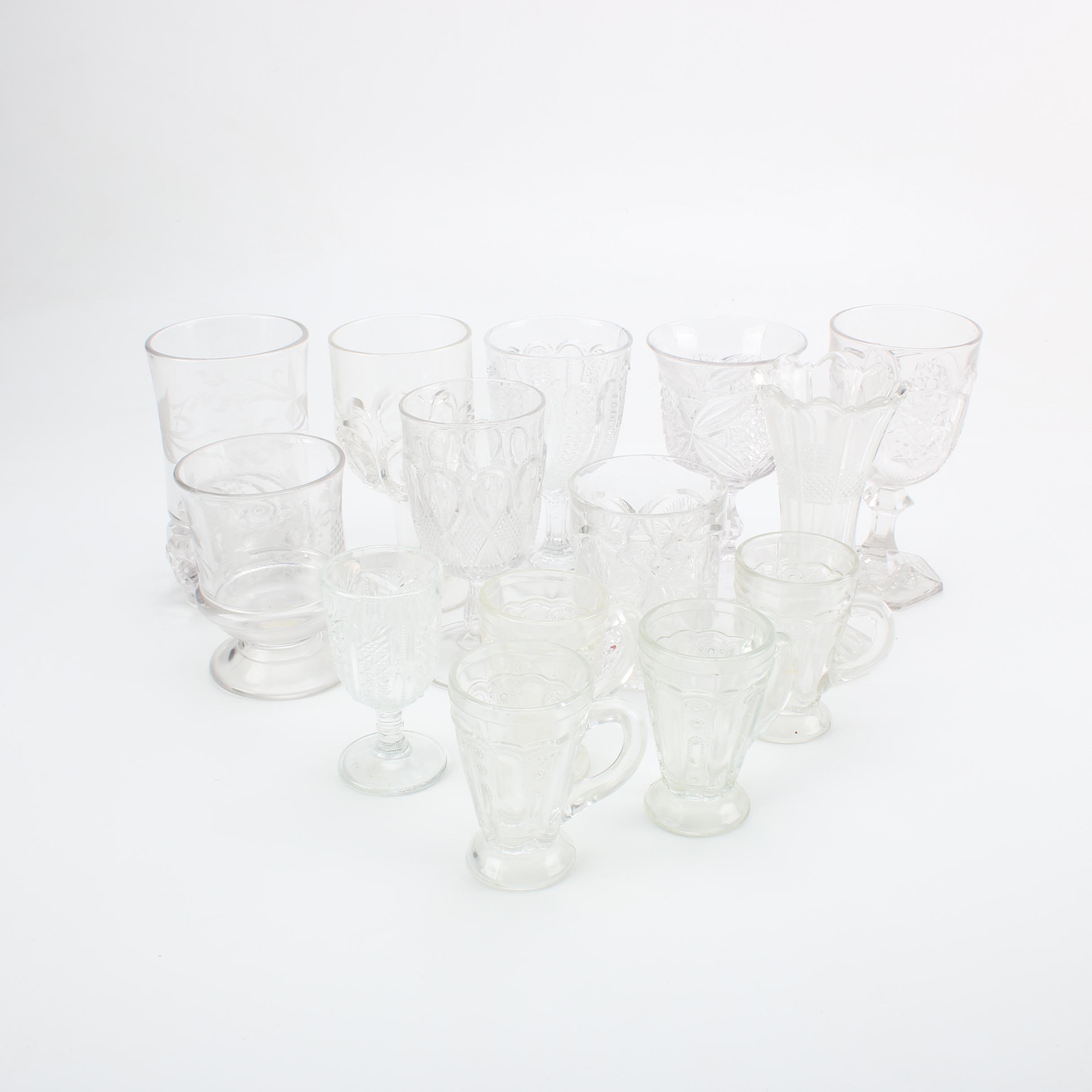 Antique EAPG Glass Stemware
