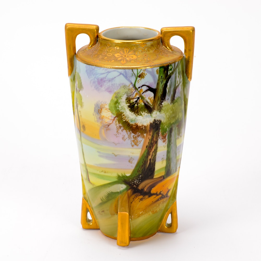 Vintage Hand Painted Noritake Vase