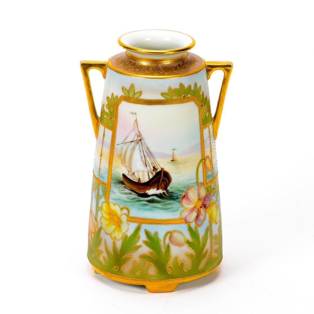 Vintage Hand Painted Nortitake Vase
