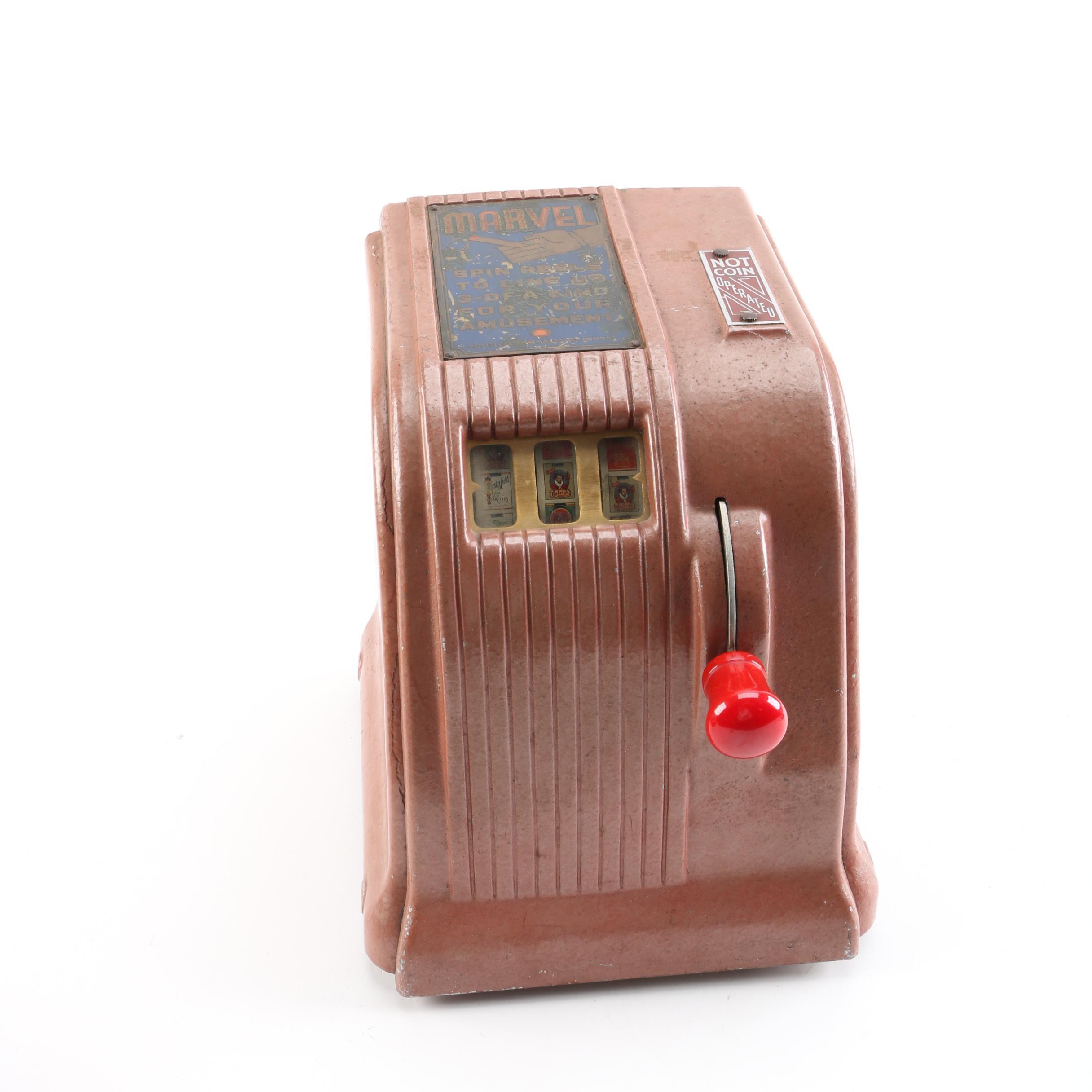 Vintage Marvel Cigarette Slot Machine