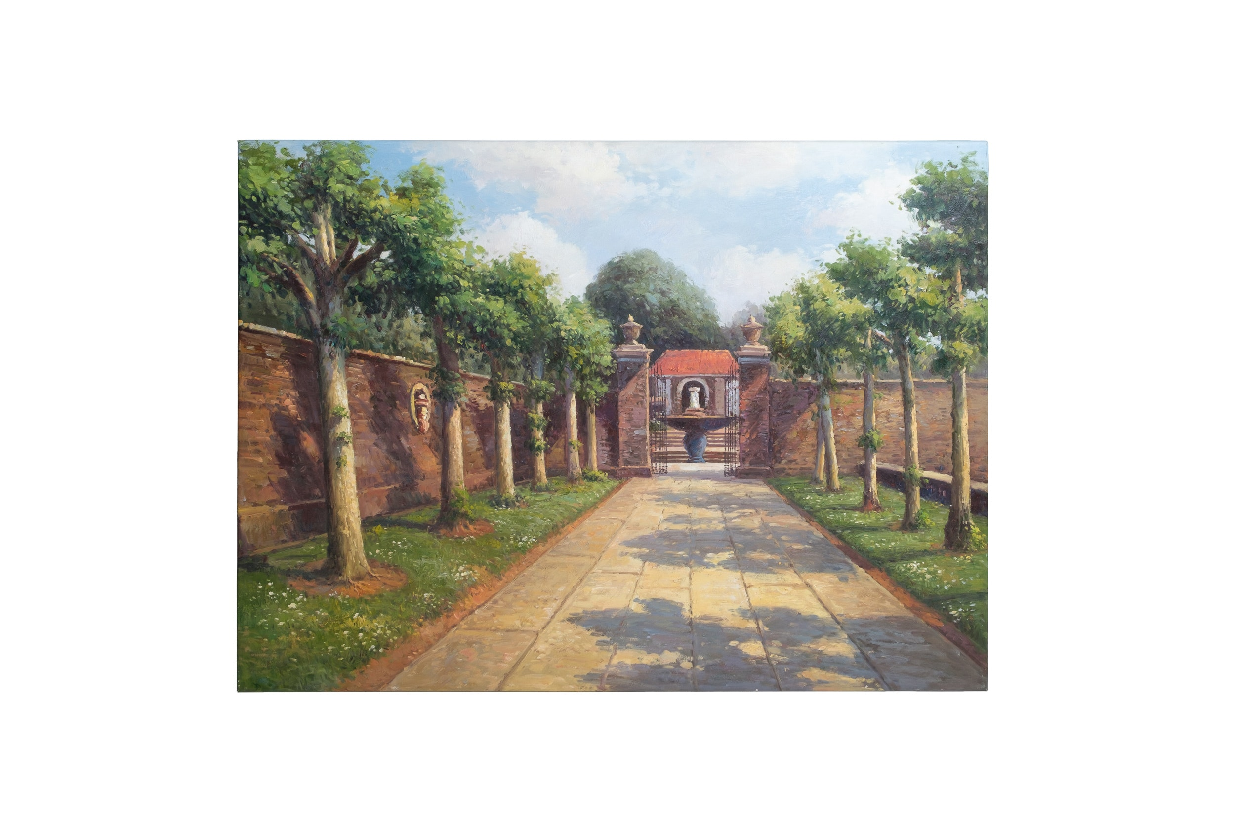 Oil Painting of Courtyard
