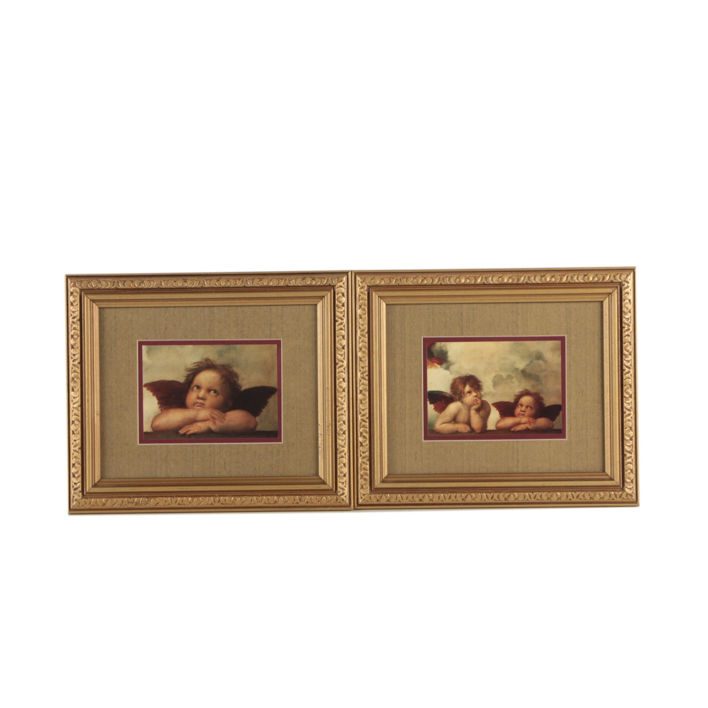 """Offset Lithographs After Raphael Details from """"The Sistine Madonna"""""""