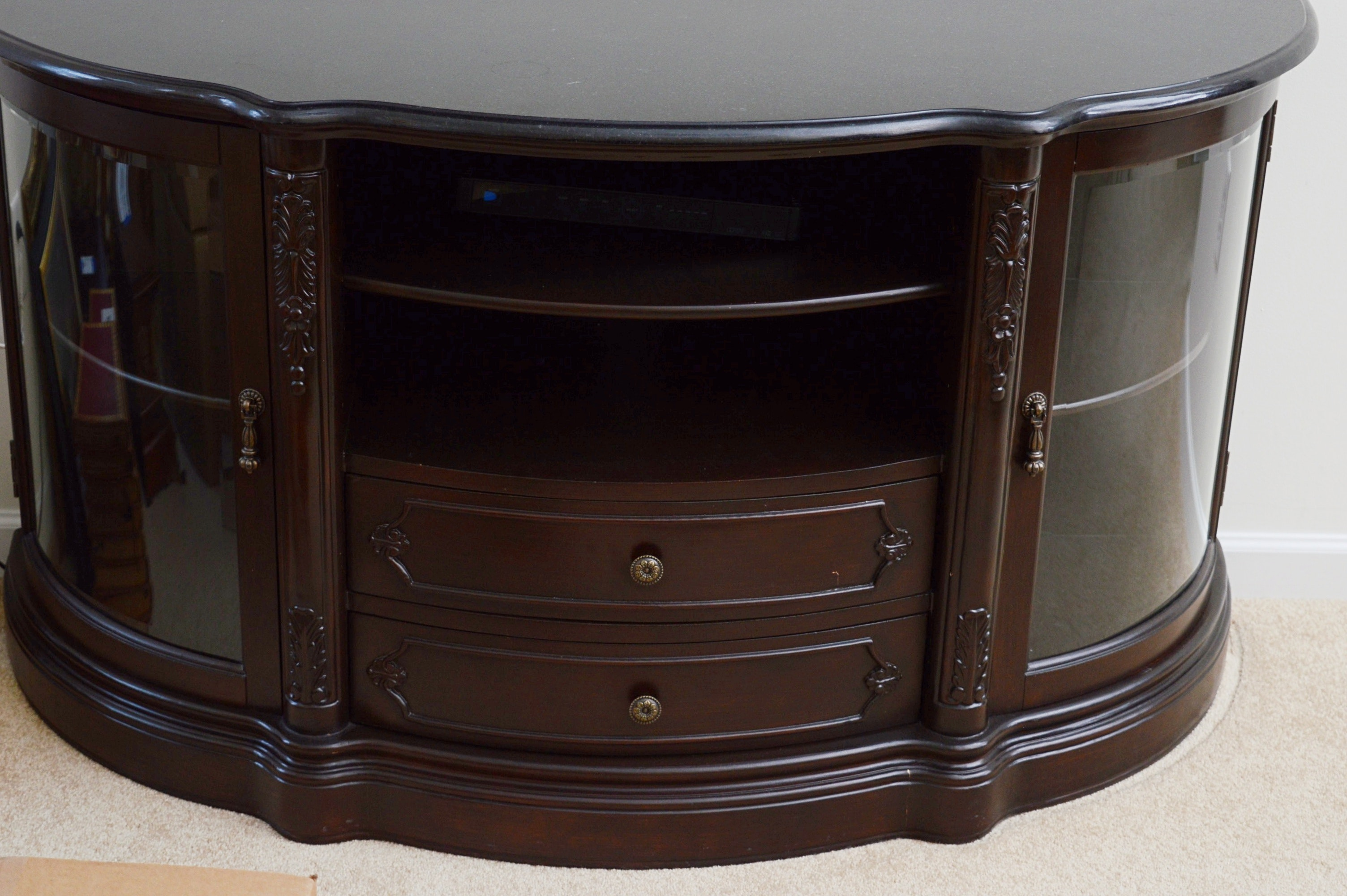 Granite Top Electronics and Television Unit
