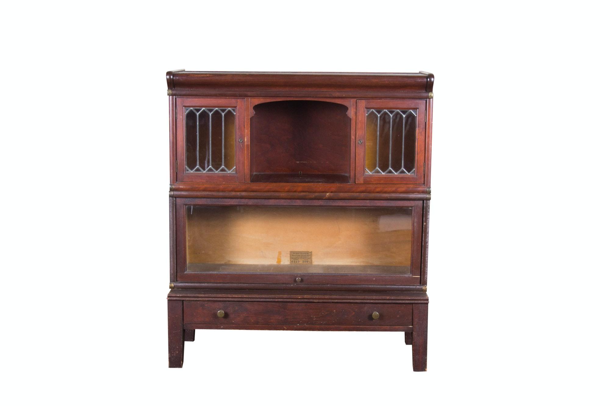 Globe-Wernicke Sectional Mahogany Bookcase