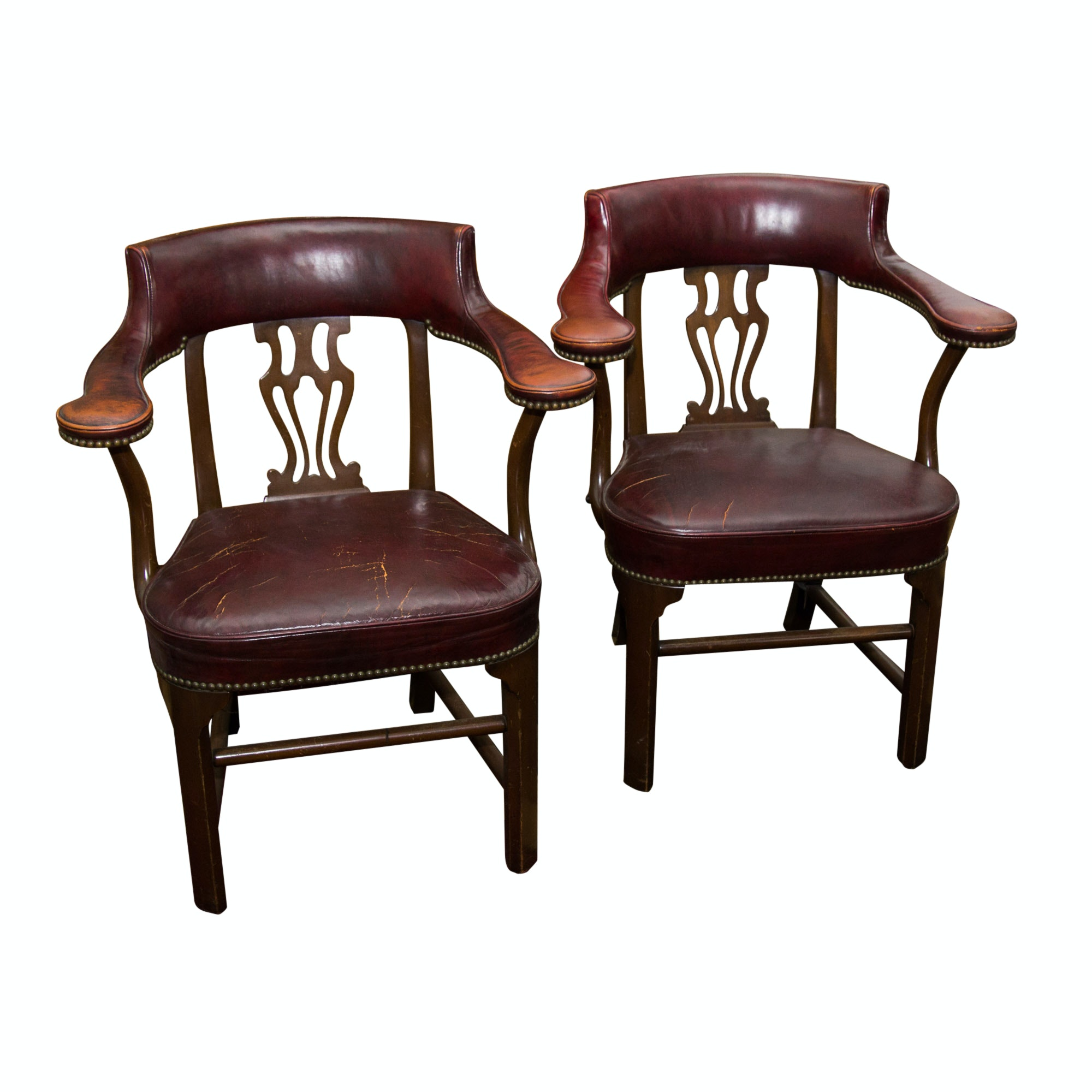 Two Vintage Captain's Chairs