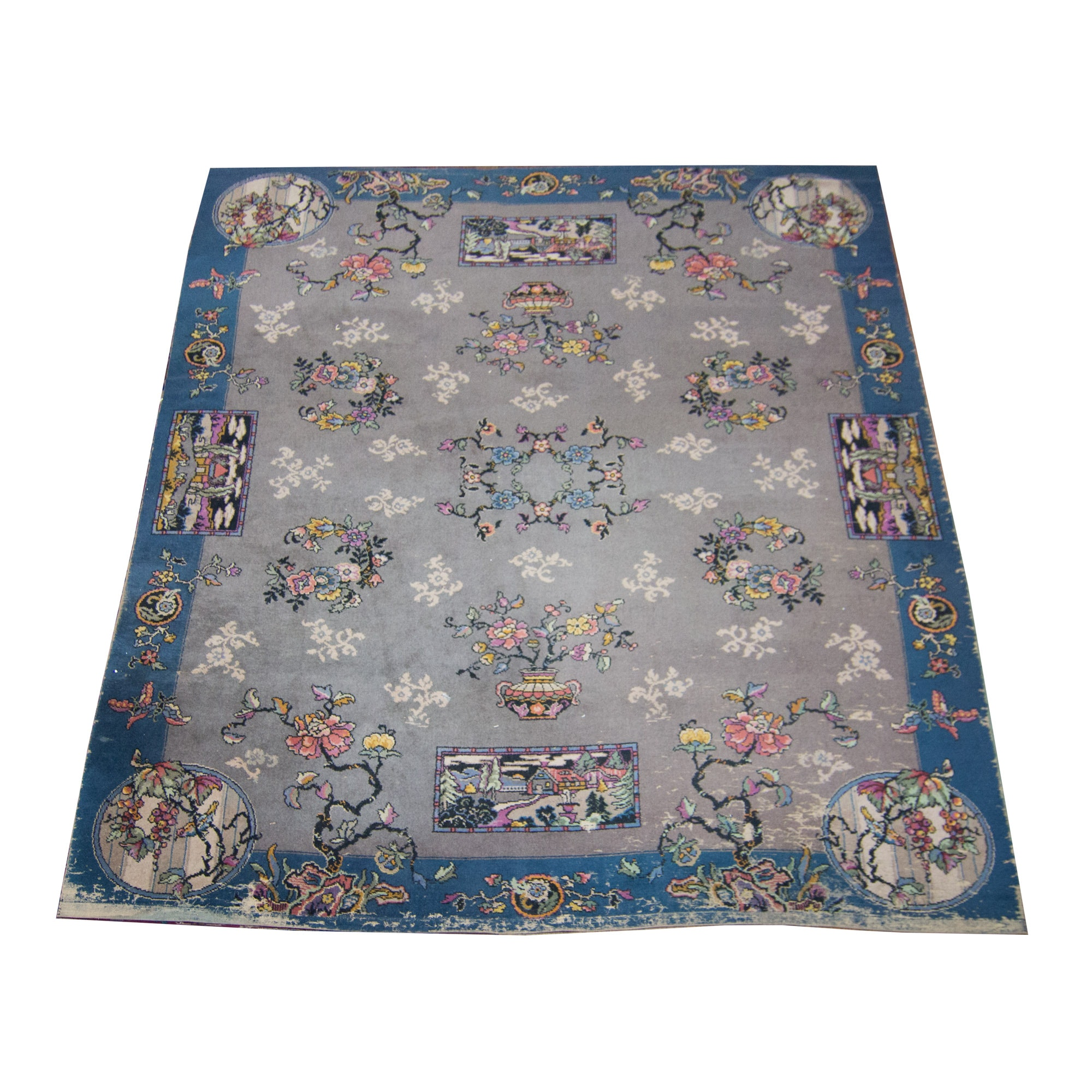 Semi-Antique Wool Alexander Smith and Sons Power-Loomed Area Rug